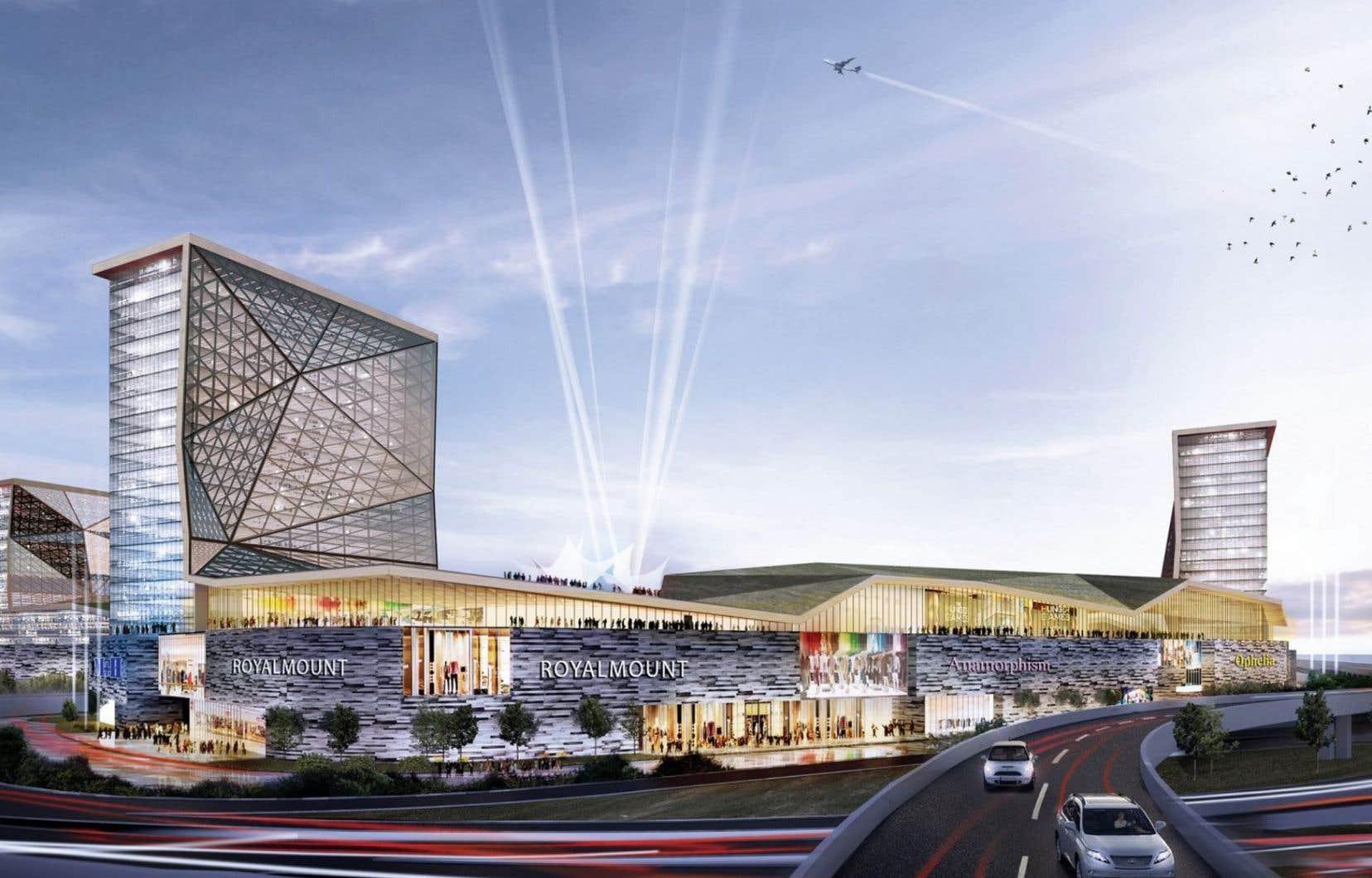 Baptisé officieusement le «Quinze40» parce qu'il se trouve à l'intersection des autoroutes 15 et 40, le Royalmount accueillera un complexe d'une superficie de 4millions de pieds carrés.