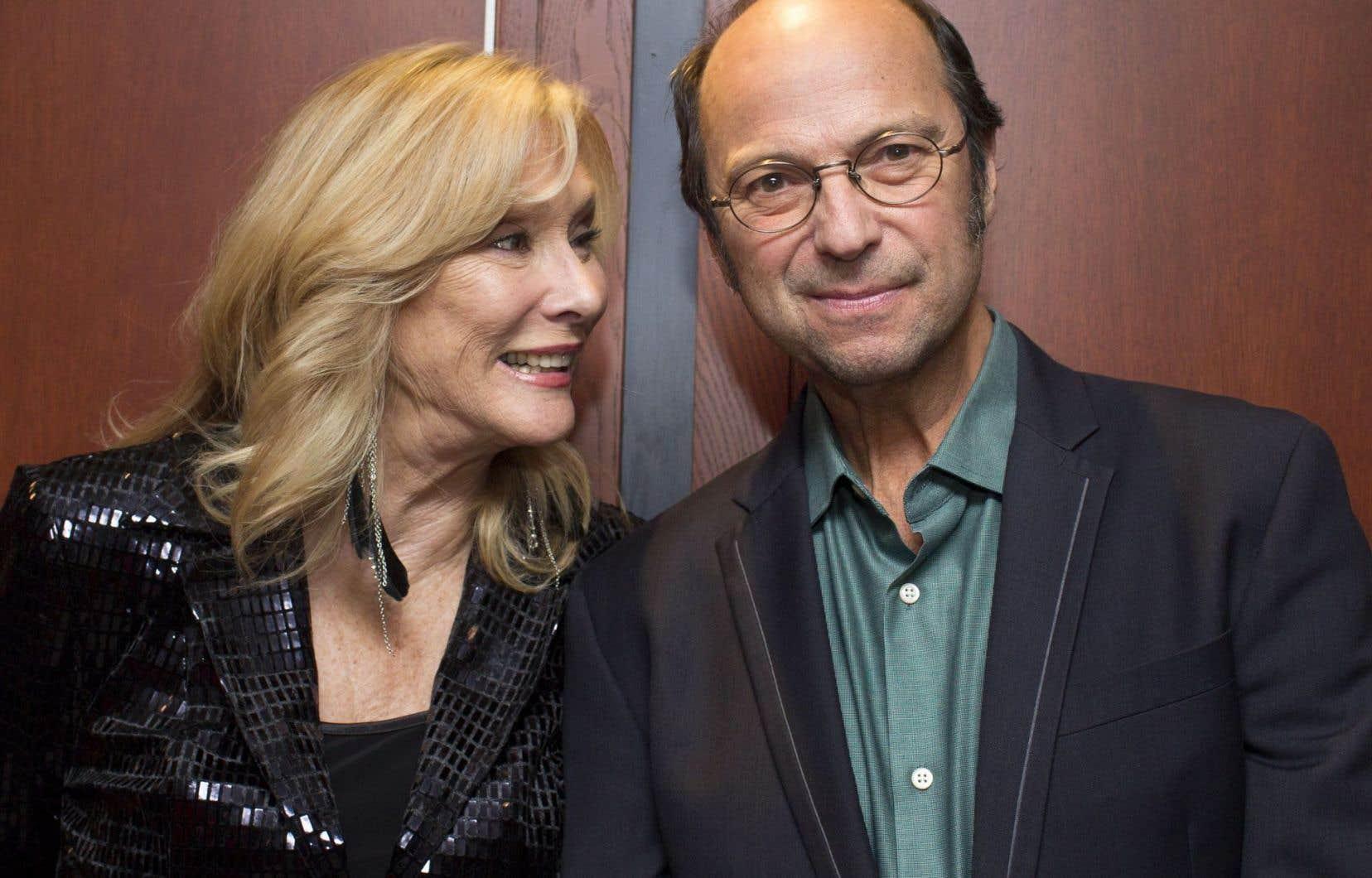 Nanette Workman et Michel Rivard, qui a reçu mardi le prix Luc Plamondon des mains de... Luc Plamondon, justement.