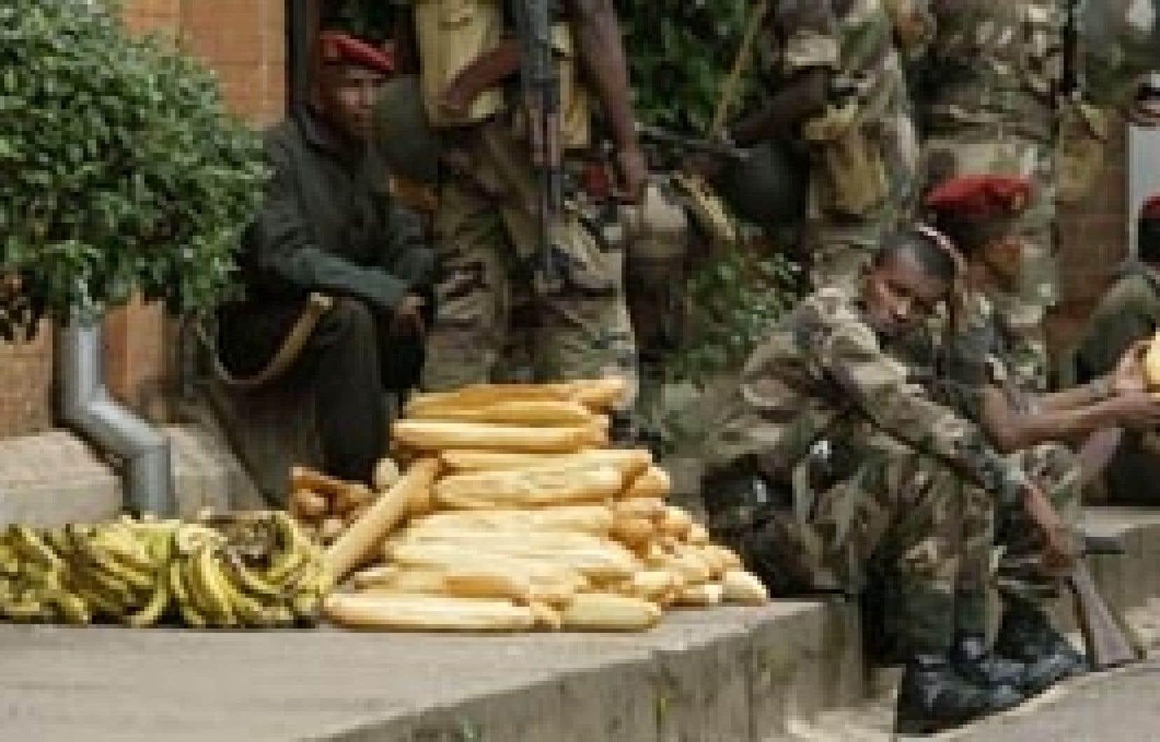 Un moment de répit dans l'enceinte du palais présidentiel à Antananarivo