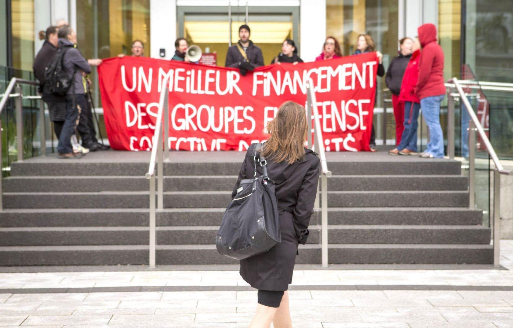 L'action de mercredi à Québec s'est déroulée sans heurts malgré quelques frictions avec les travailleurs.