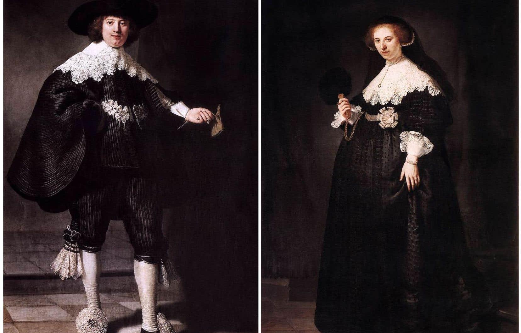 Les portraits de Maerten Soolmans et Oopjen Coppit à la veille de leur mariage seront exposés ensemble, alternativement au Louvre et au Rijksmuseum.