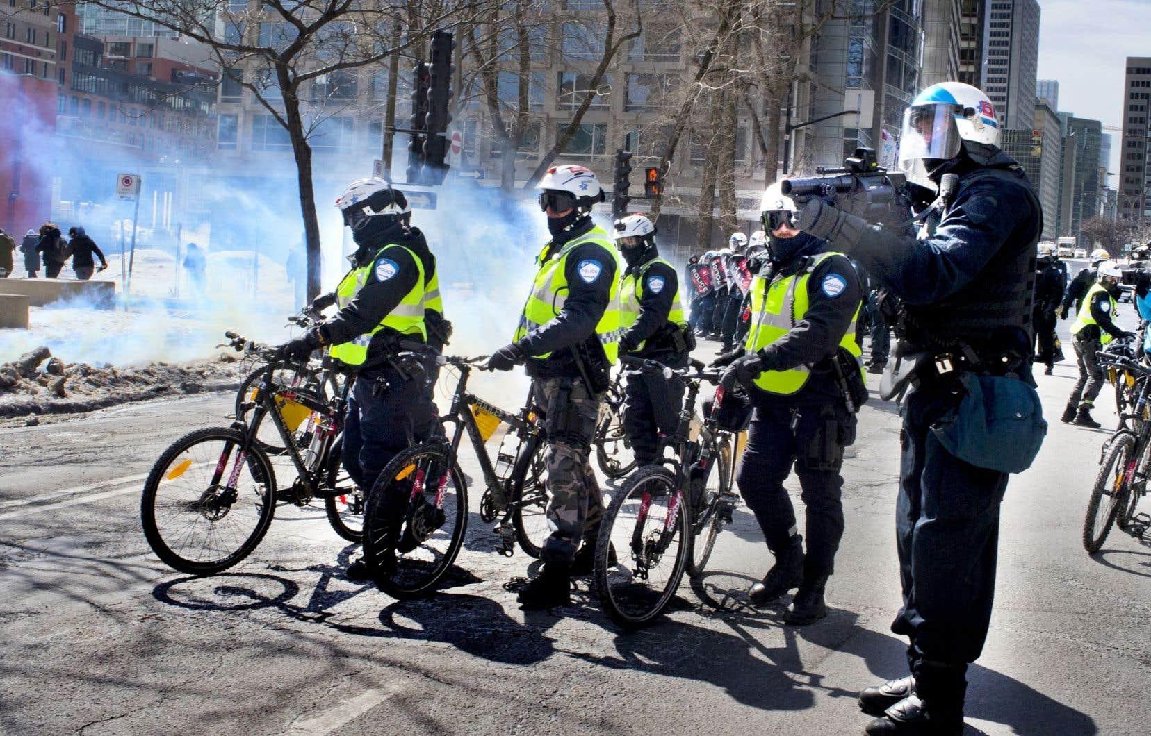 Action policière en mars dernier lors d'une manifestation étudiante contre l'austérité
