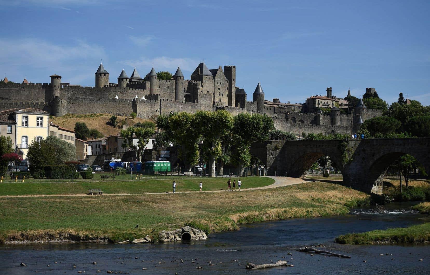 La citadelle de Carcassonne, dans le sud-ouest de la France. La cité fortifiée figure sur la liste du Patrimoine mondial de l'UNESCO.