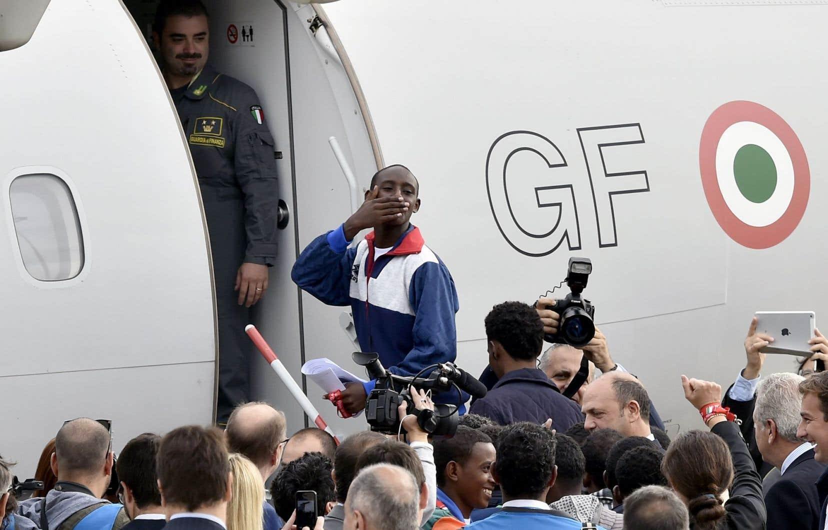 Quelque 19 Érythréens ont quitté Rome pour la Suède vendredi.