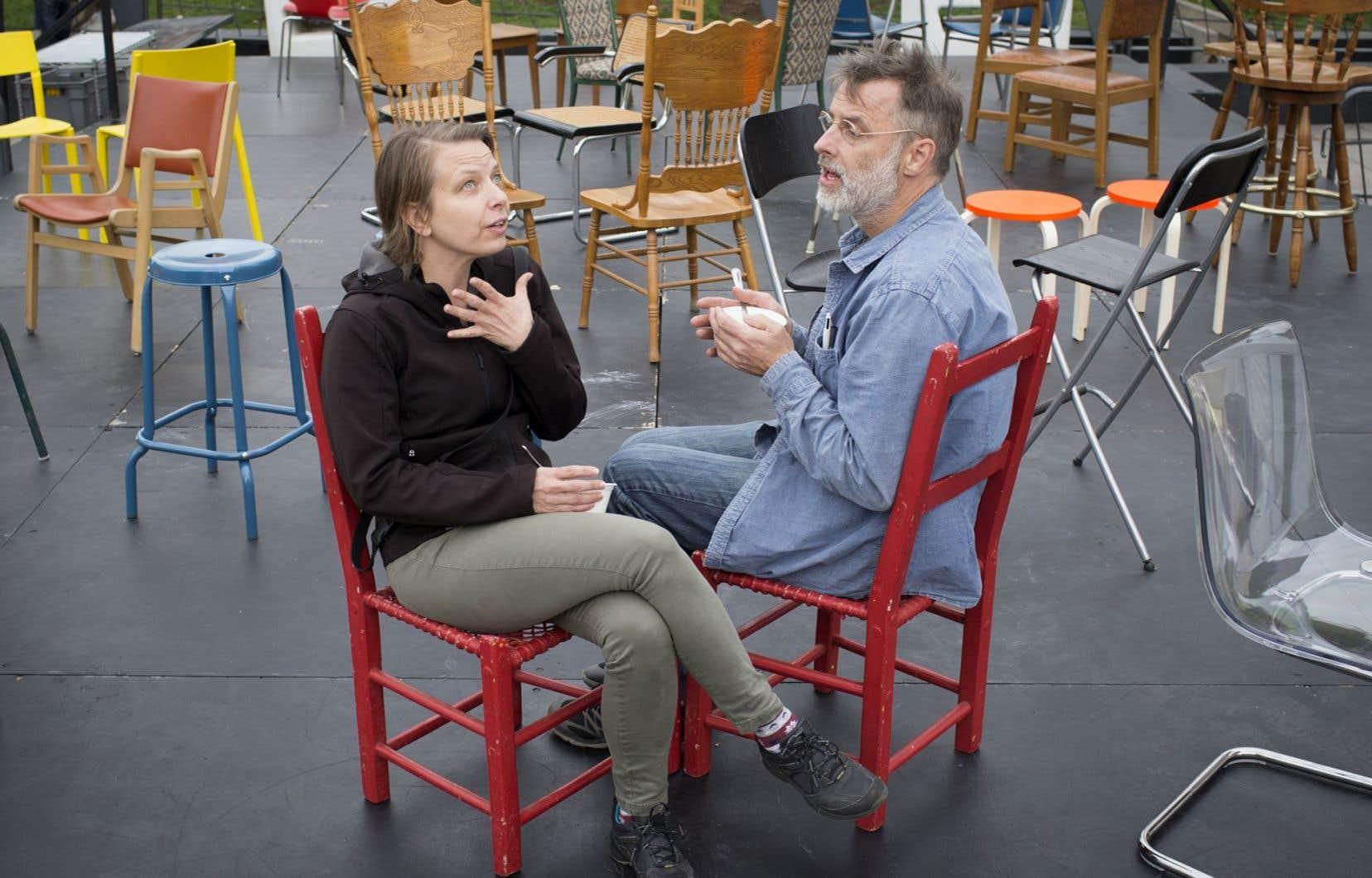 Le couple d'artistes Annie Roy et Pierre Allard