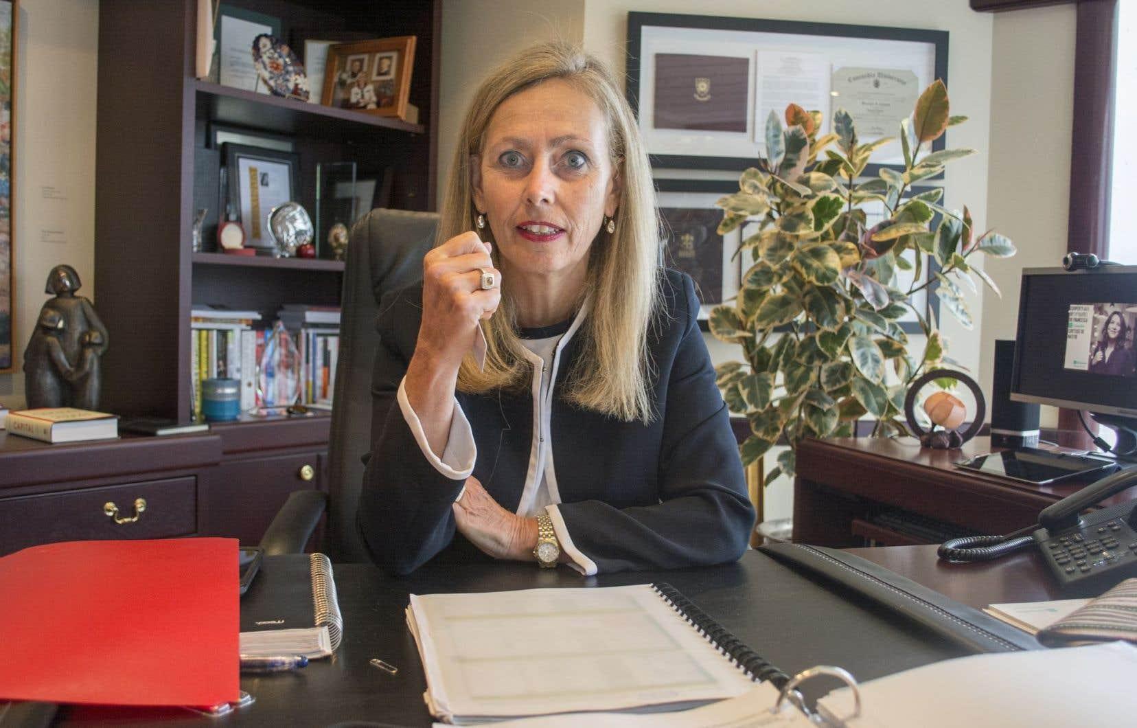La présidente et chef de direction du Mouvement Desjardins, Monique F. Leroux