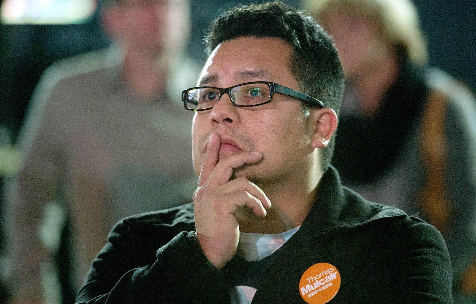 Les militants du NPD étaient inquiets lundi soir en voyant arriver les résultats qui annonçaient le ressac de la vague orange portée par le Québec en 2011.