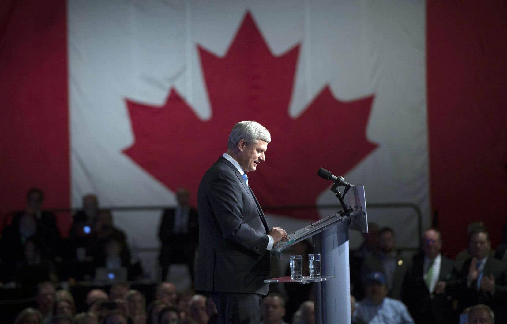 Dans son discours aux quelques centaines de militants qui s'étaient déplacés pour l'entendre à Calgary, Stephen Harper n'a pas daigné faire l'annonce de sa démission.