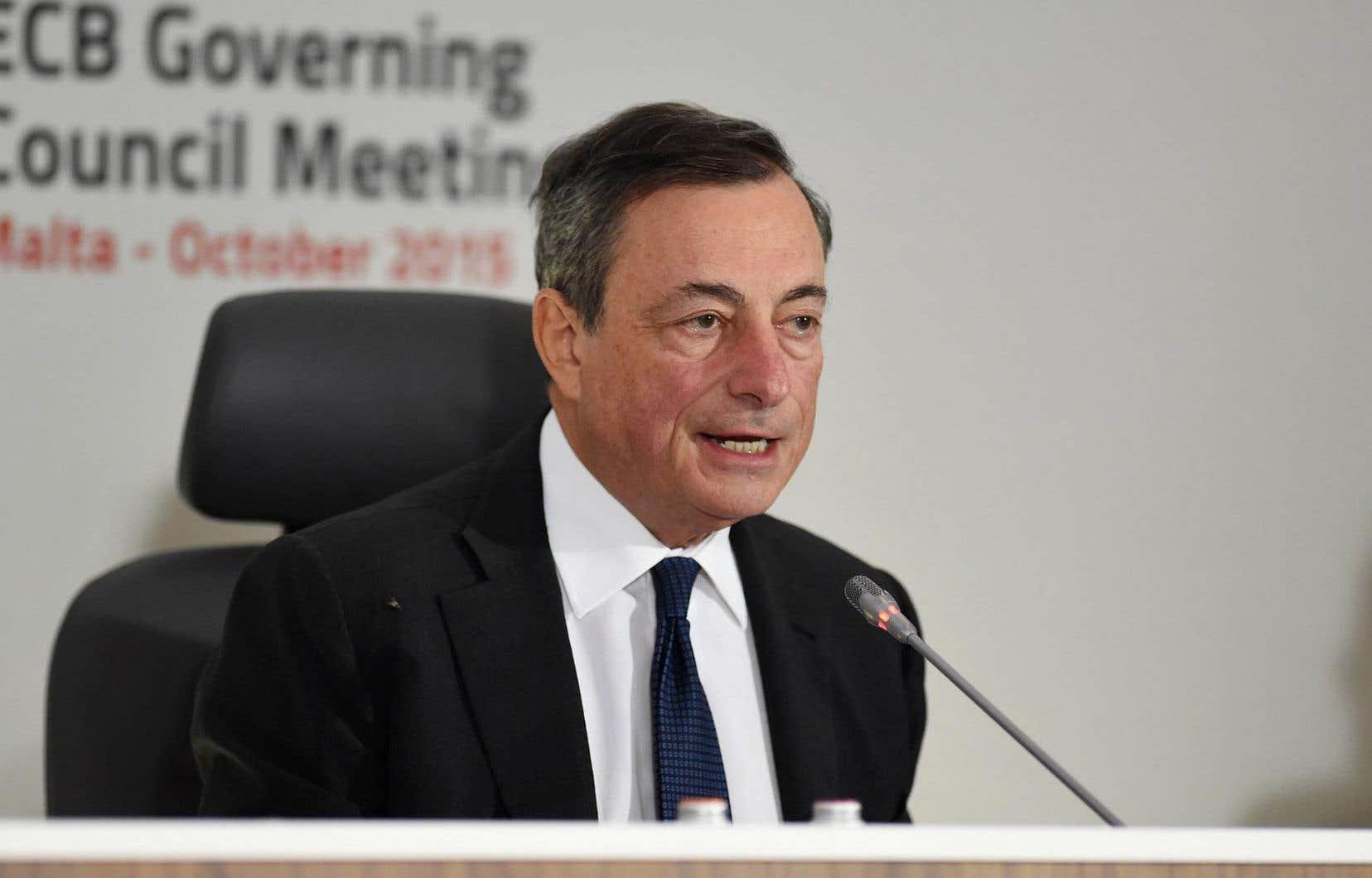 Le président de la BCE, Mario Draghi