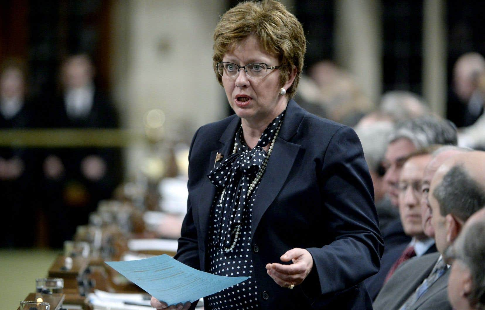 Diane Finley à la Chambre des communes au printemps dernier