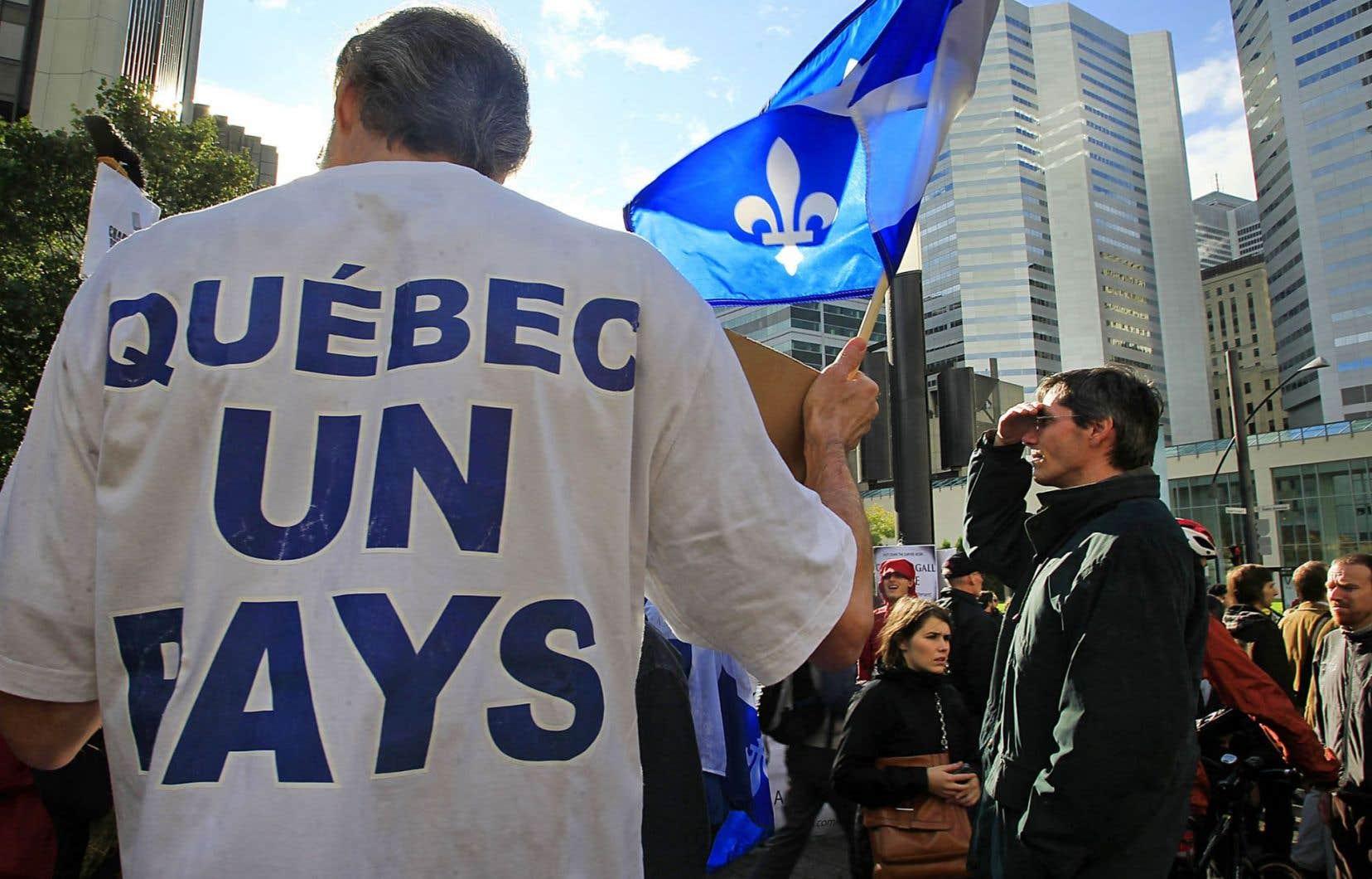 Une minorité de la population québécoise est aujourd'hui d'avis que le Québec a l'étoffe d'un État indépendant, selon le sondage CROP.