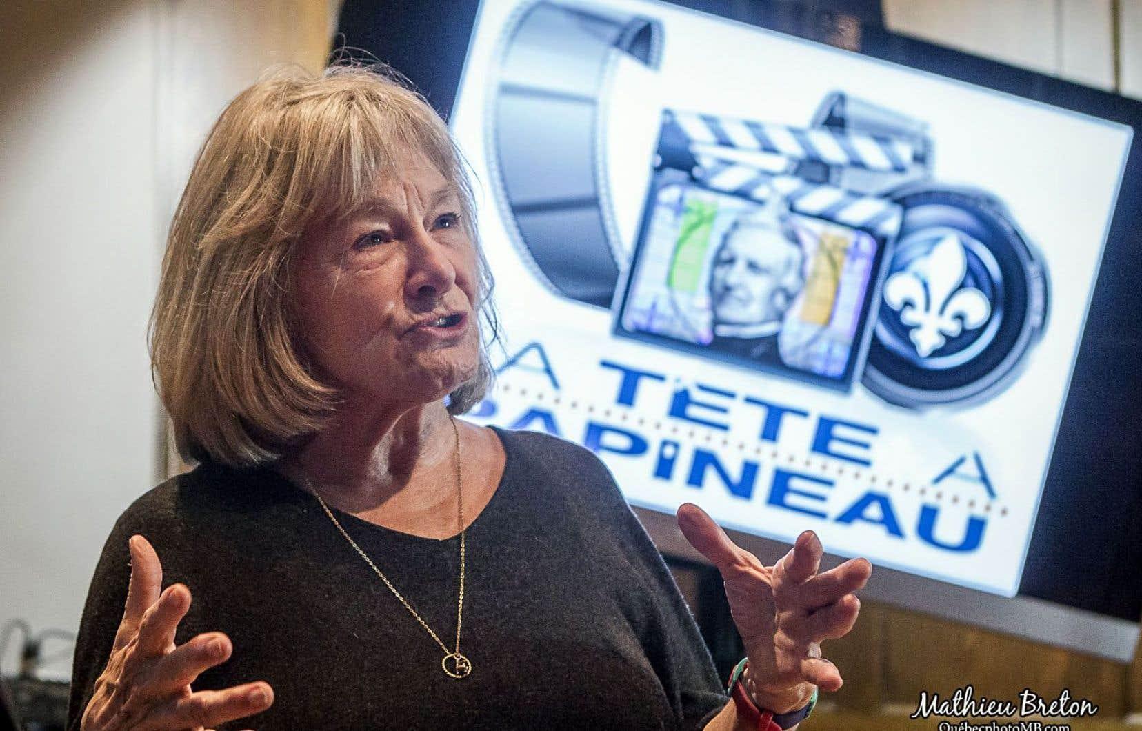 La réalisatrice Micheline Lanctôt lors de la présentation du concours