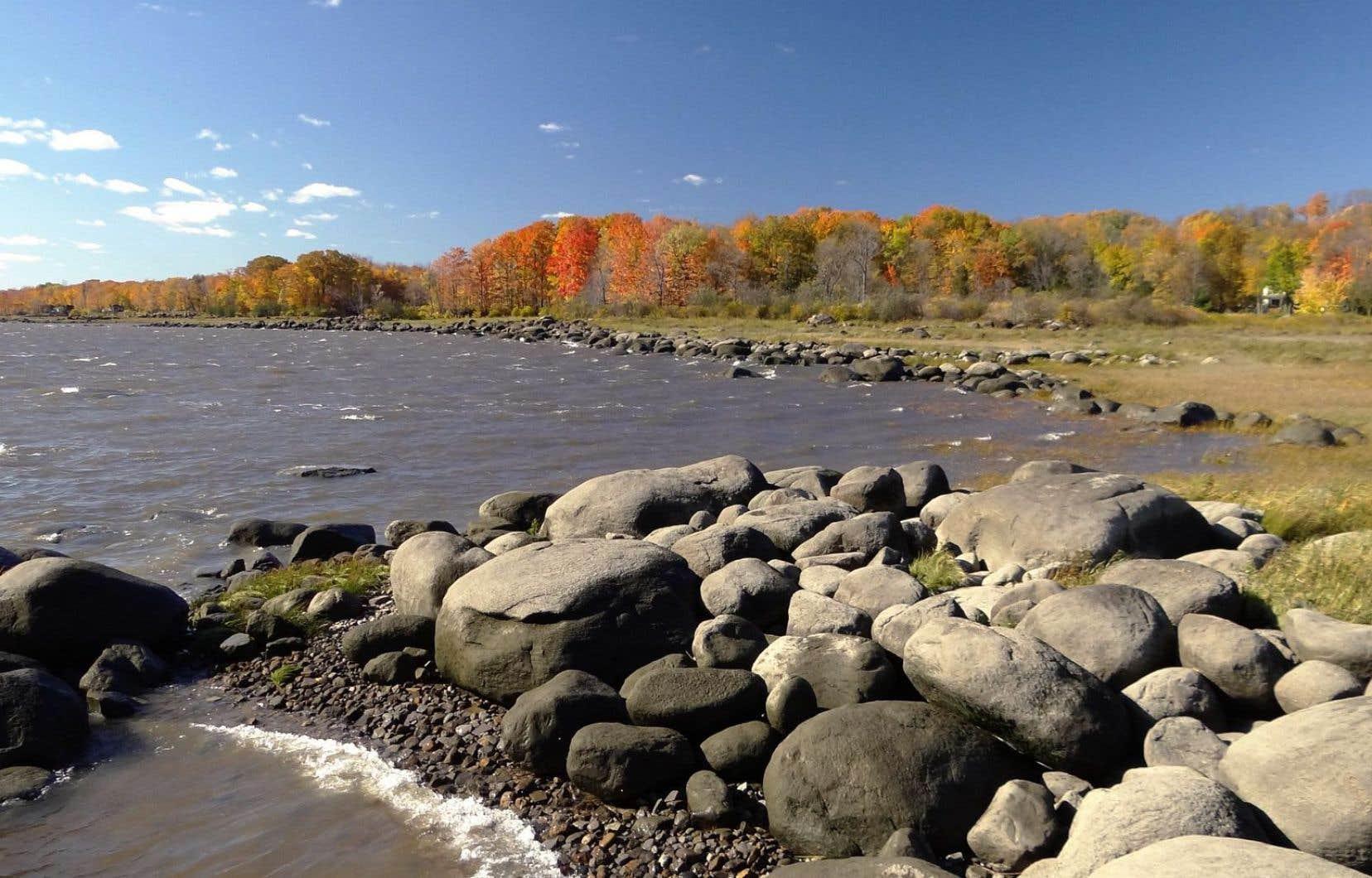 Les berges du fleuve Saint-Laurent près de Saint-Augustin-de-Desmaures