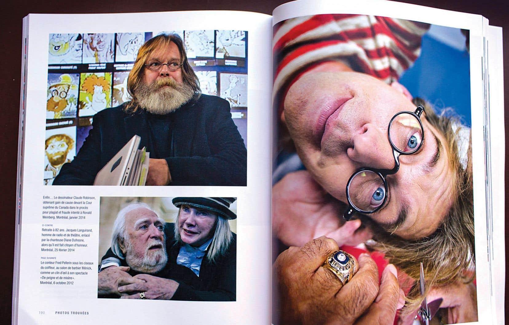Double page du livre lancé par le photographe Jacques Nadeau
