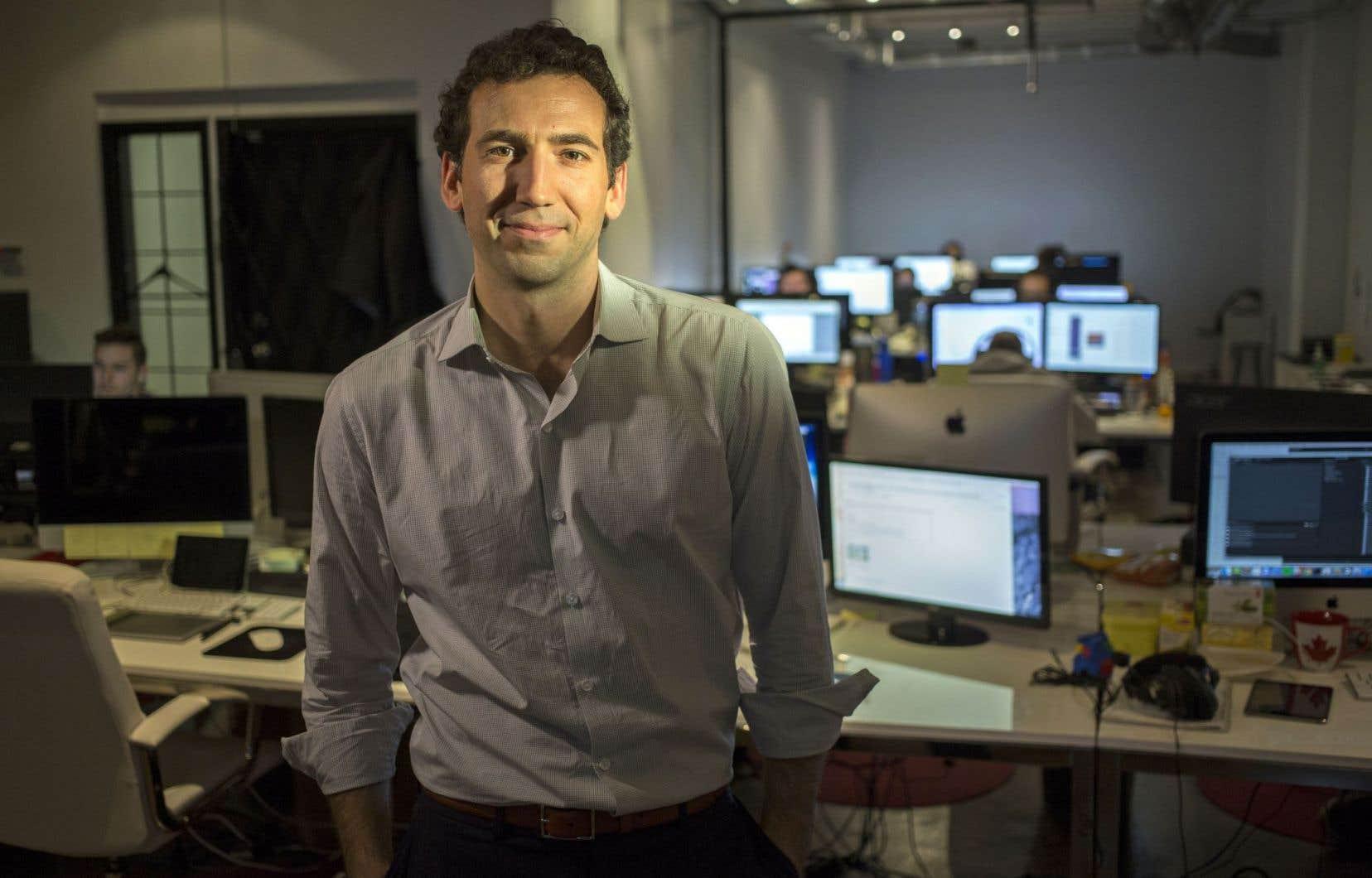 David Lipes, le nouveau président de l'Alliance numérique, l'organisation qui défend les intérêts de studios de jeu vidéo du Québec.