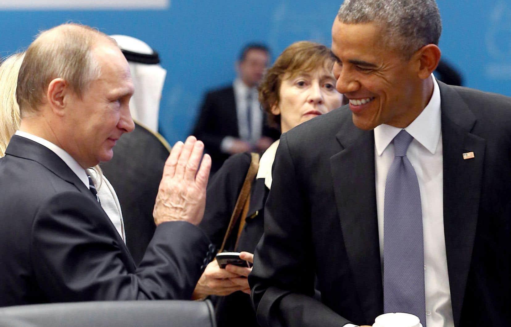 Vladimir Poutine et Barack Obama ont eu une rencontre-surprise lundi au sommet du G20 en Turquie.