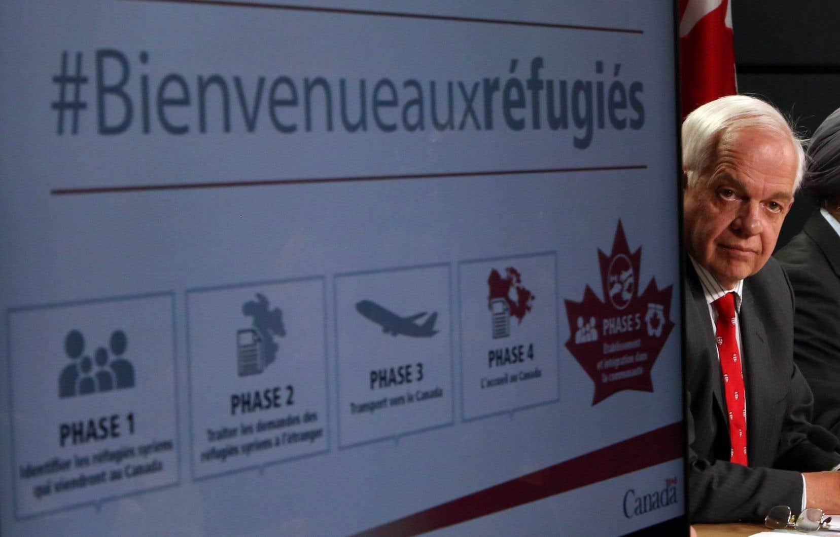 Le ministre de l'Immigration, des Réfugiés et de la Citoyenneté, John McCallum, a évoqué la contribution éventuelle de ces nouveaux arrivants à l'économie du pays, mardi en point de presse.