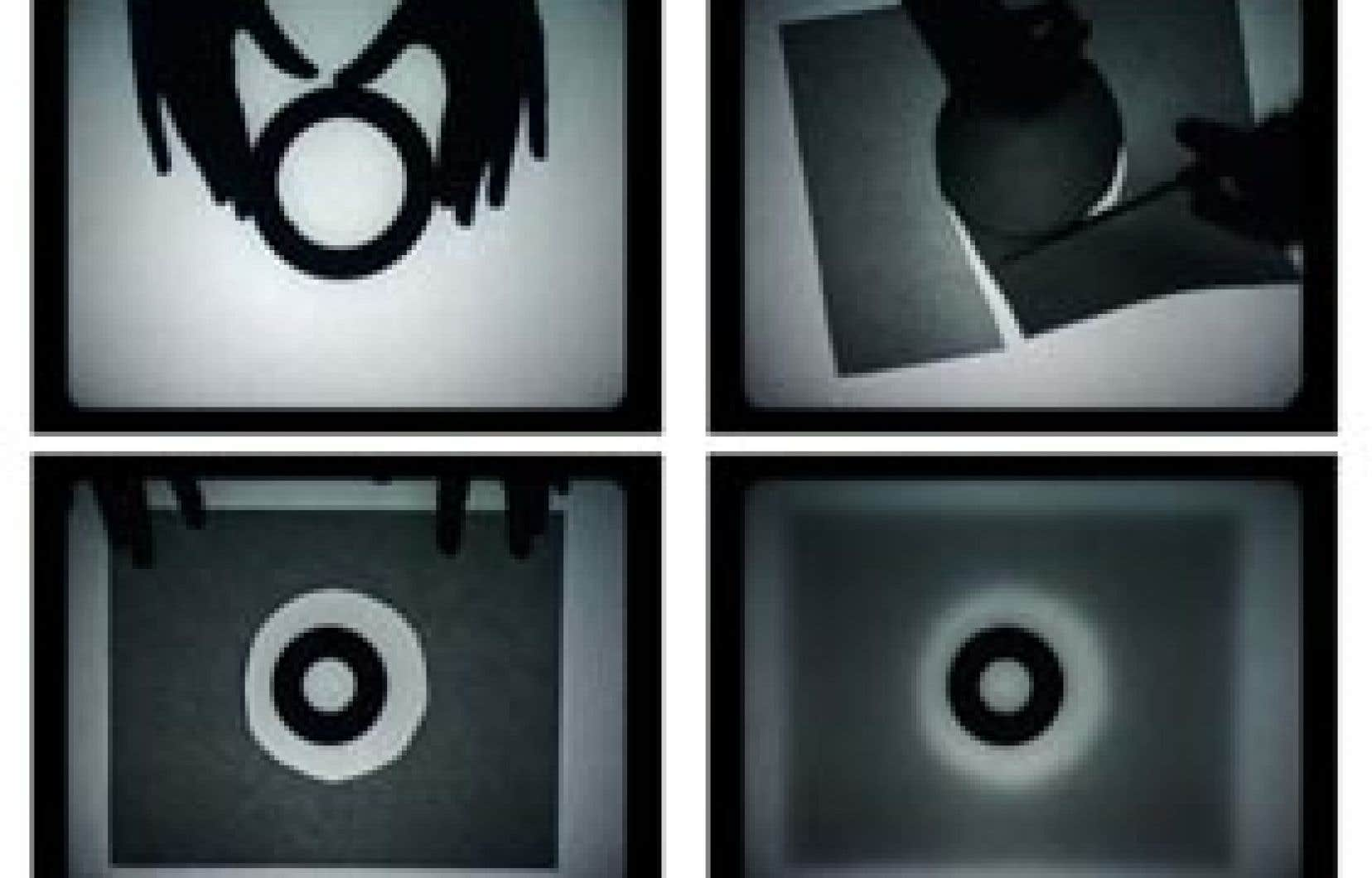 Répertoire (détail), installation vidéographique de Manon de Pauw