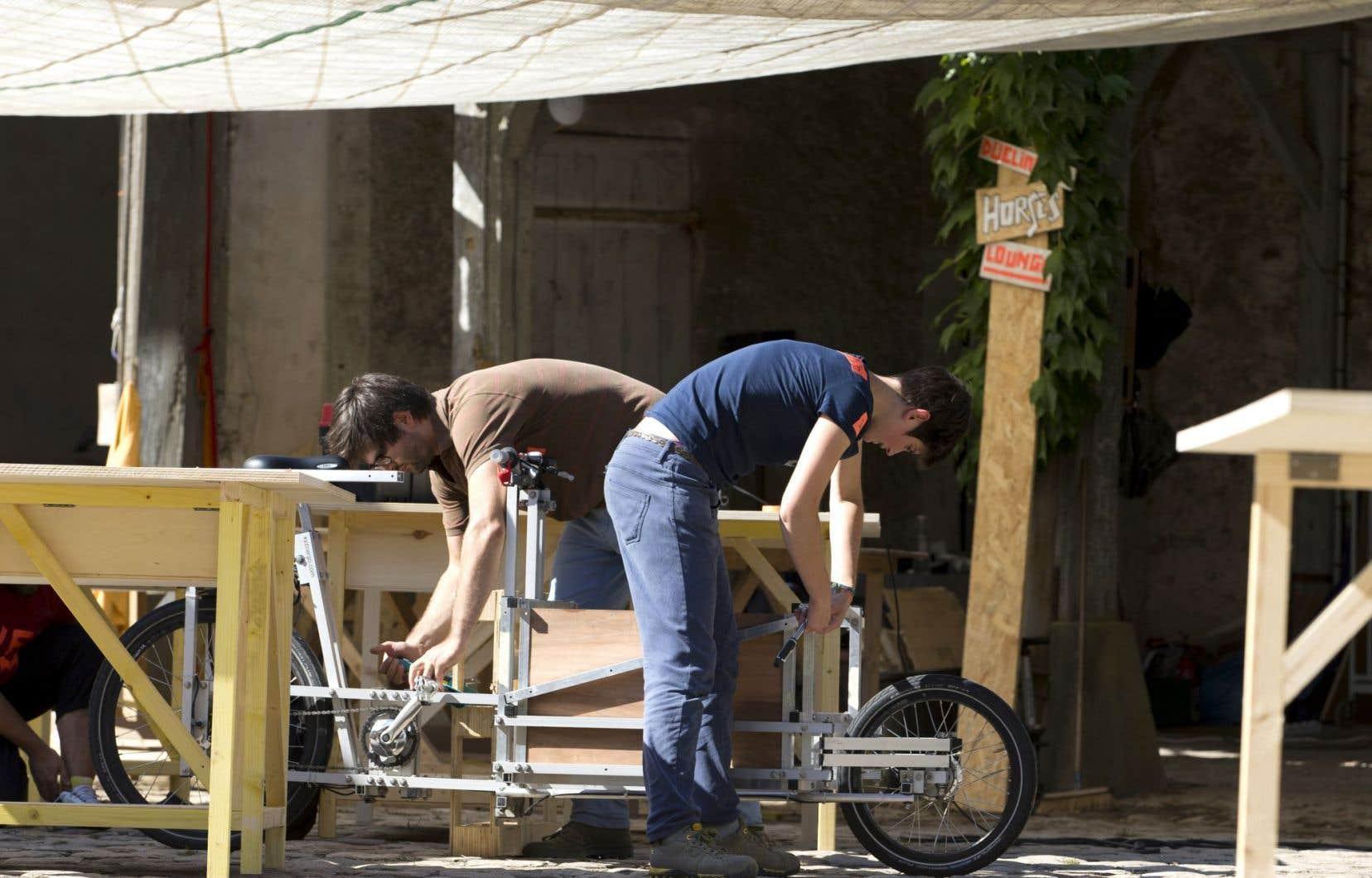 Le POC21, qui s'est déroulé en août dernier en banlieue parisienne, a permis la mise au point d'un vélo cargo à géométrie variable.