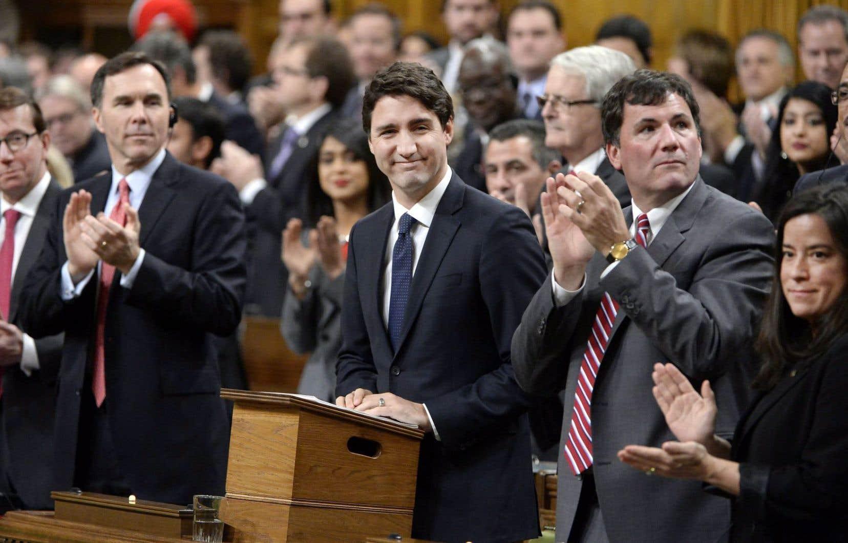 Justin Trudeau faisait sa première apparition en Chambre lundi en tant que premier ministre.