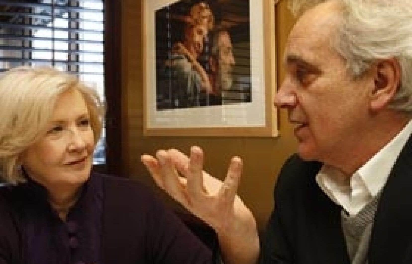 Andrée Lachapelle et Michel Langlois. Lachapelle incarnait Yvonne dans Cap Tourmente, le film de fiction réalisé en 1993 par Langlois.