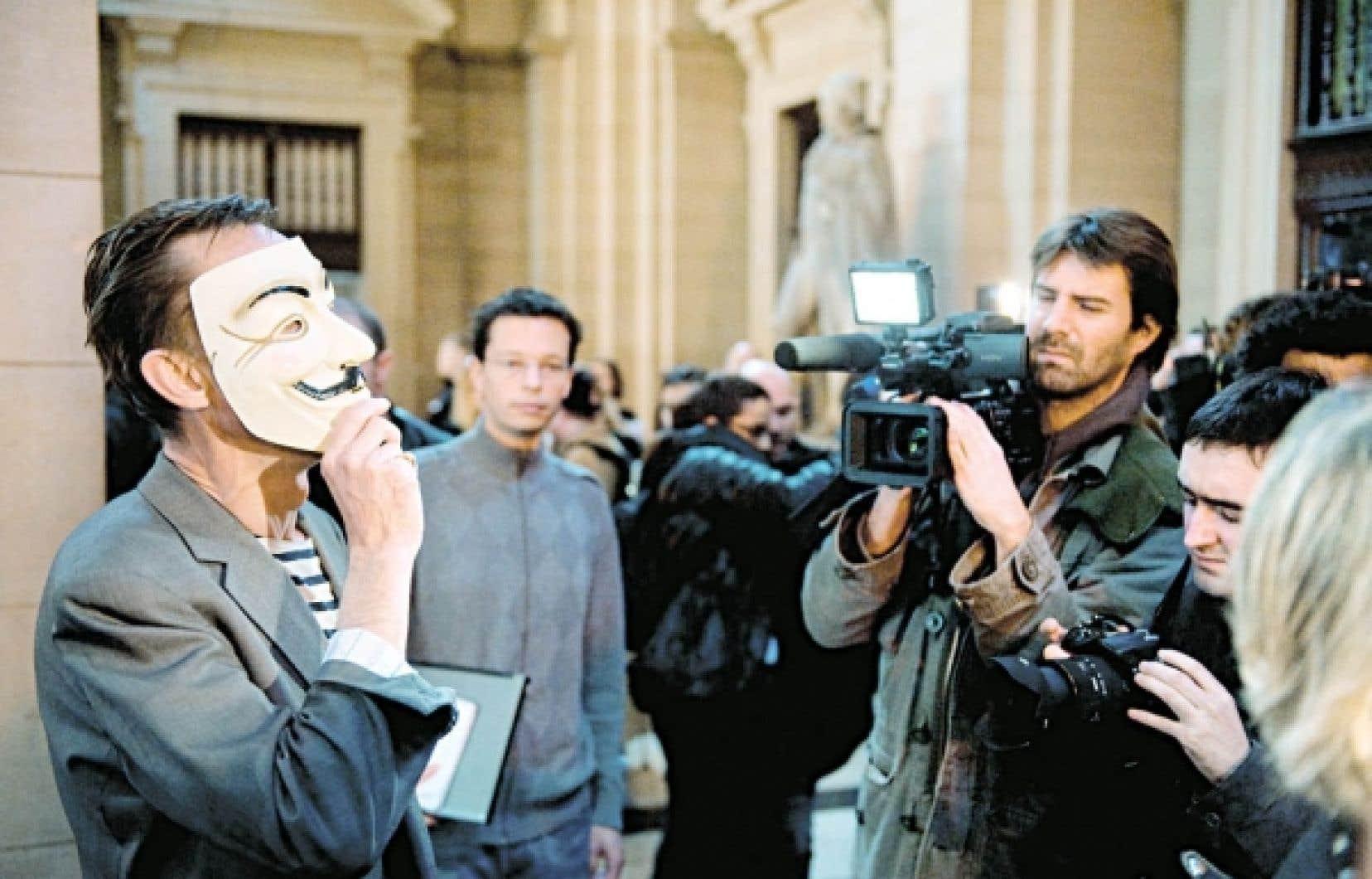 Un opposant à l'Église de scientologie, hier, au Tribunal correctionnel de Paris