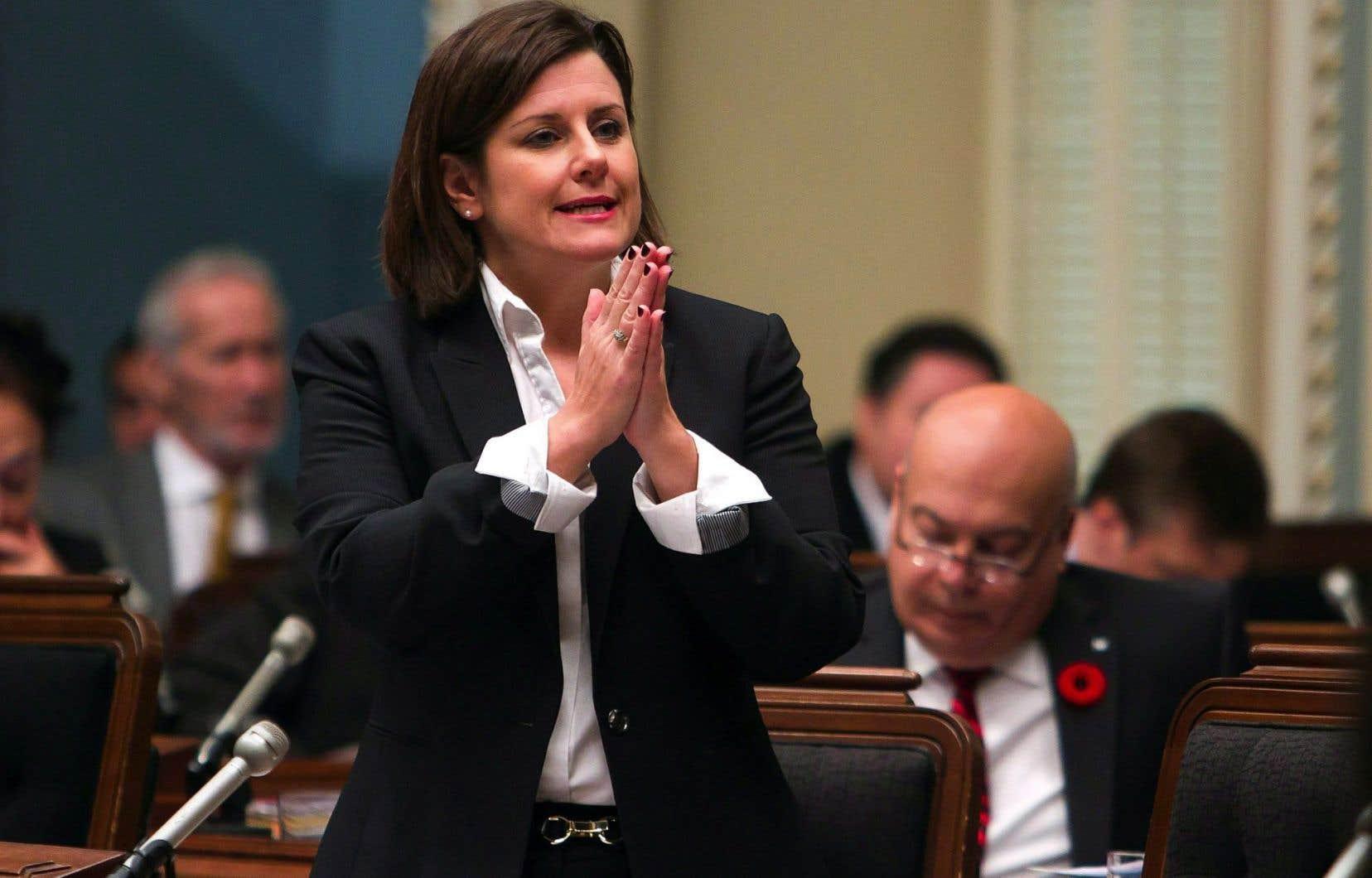 La ministre de la Justice, Stéphanie Vallée, s'est réjouie de la décision de la Cour d'appel.