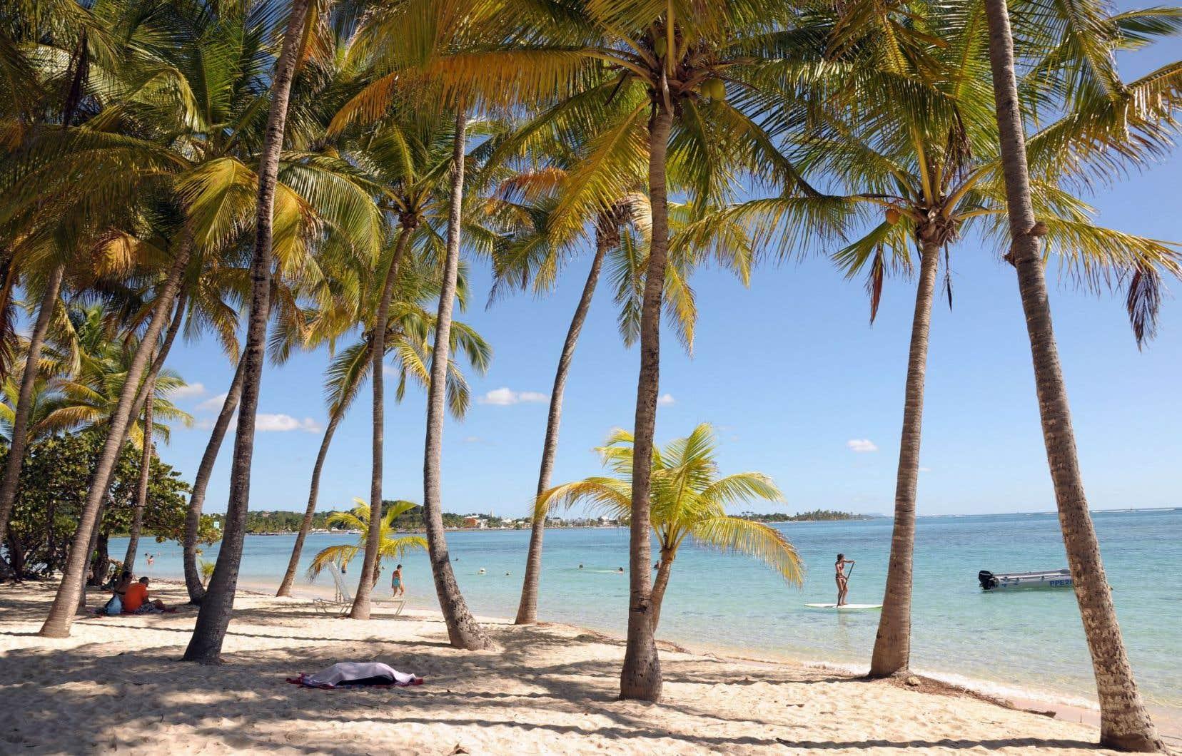 La plage Sainte-Anne à Grande-Terre, sur l'île de la Guadeloupe.