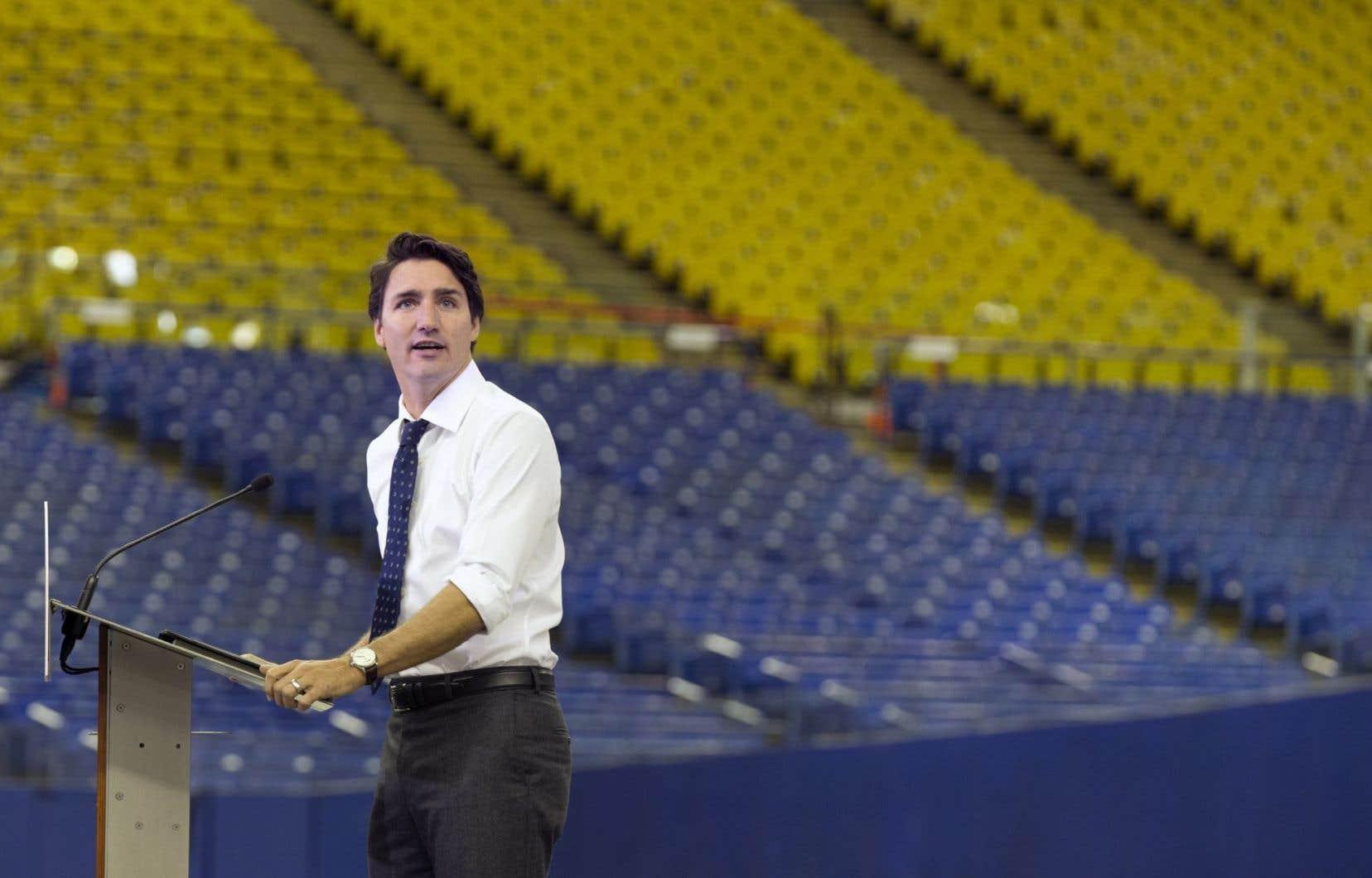 Le chef libéral et premier ministre du Canada Justin Trudeau