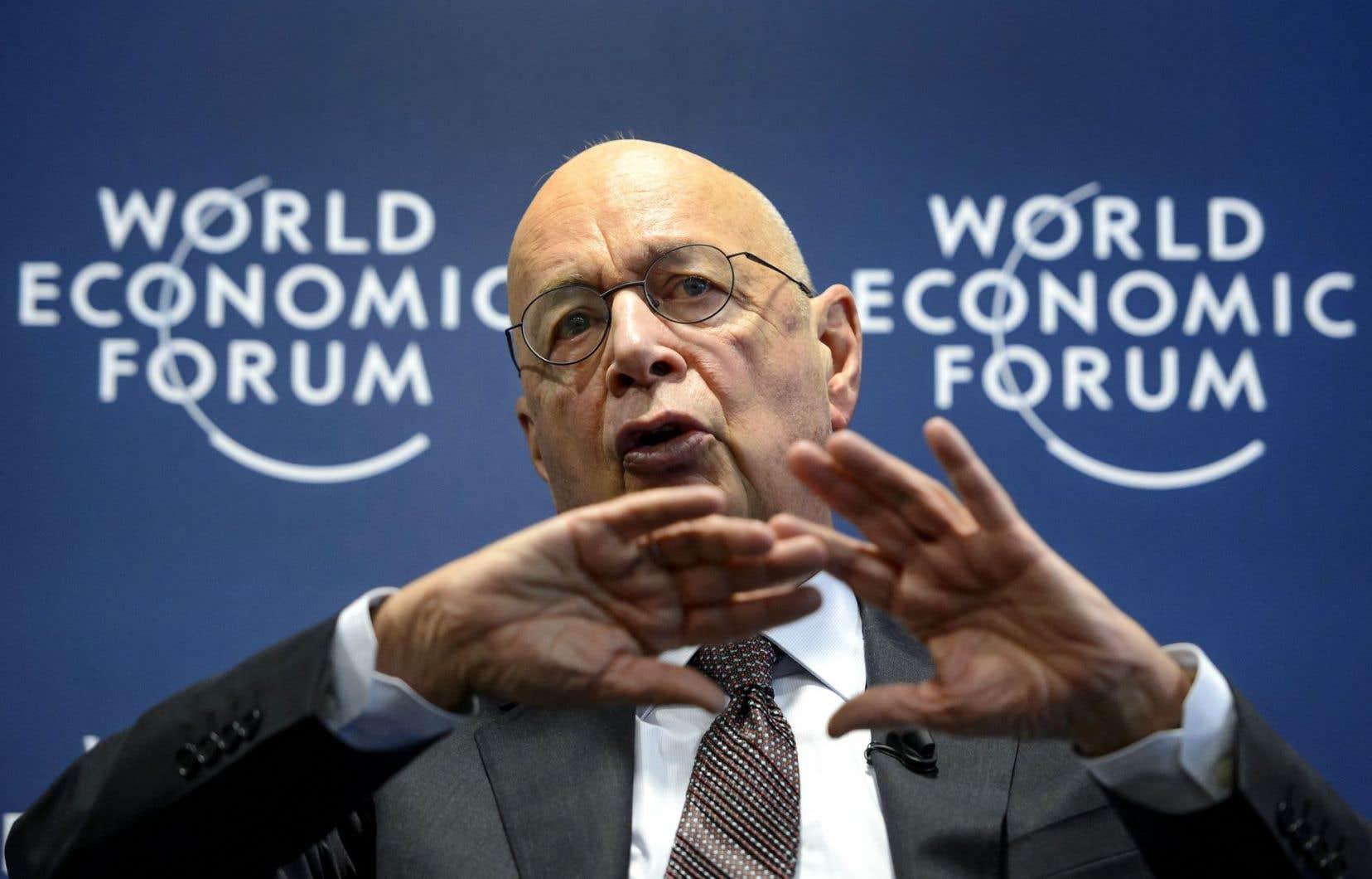 Klaus Schwab, président et fondateur du Forum économique mondial