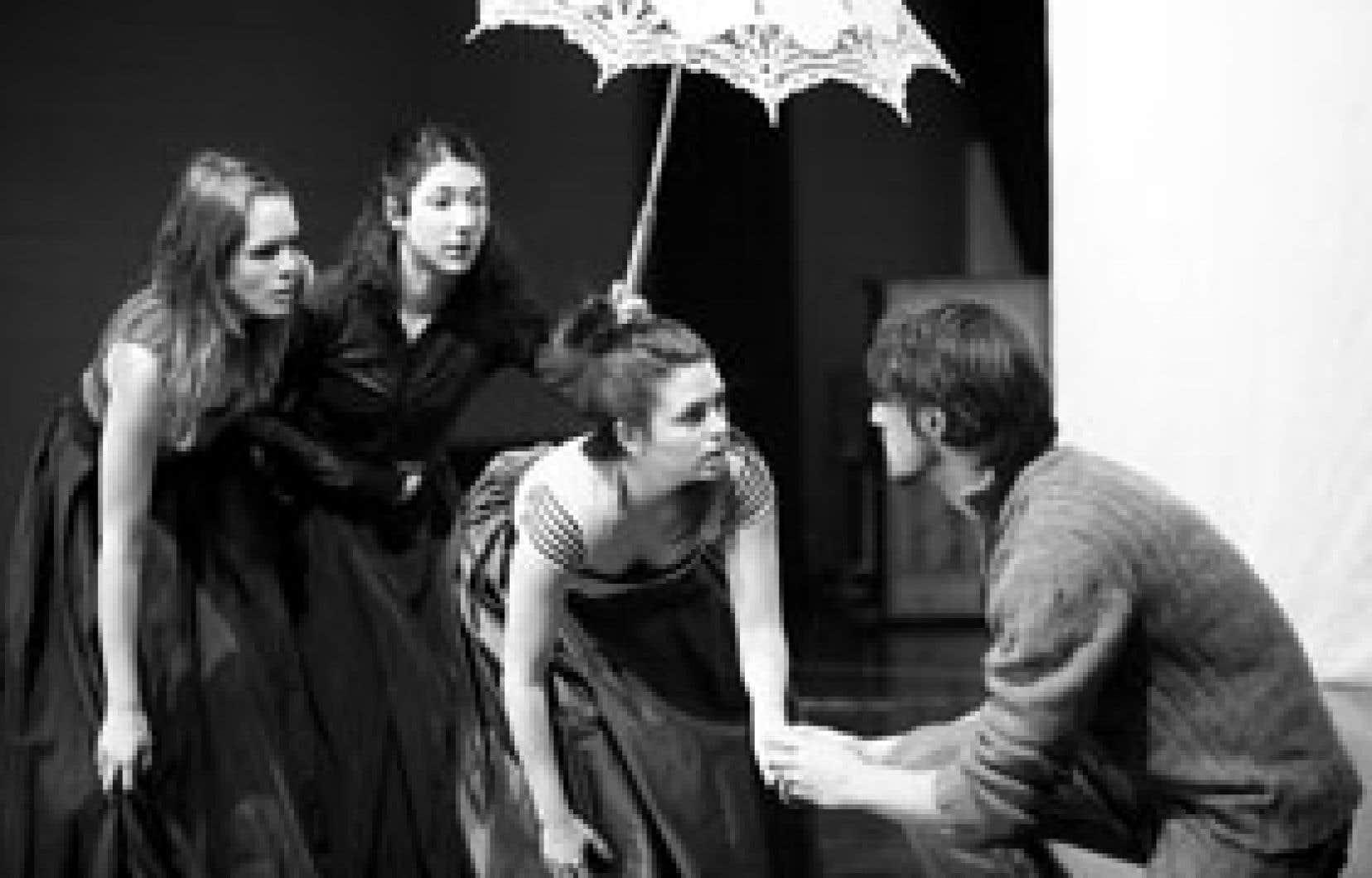 La solide distribution de la pièce Le Menteur contribue à recréer la magie du théâtre. Photo: Jonathan Robert