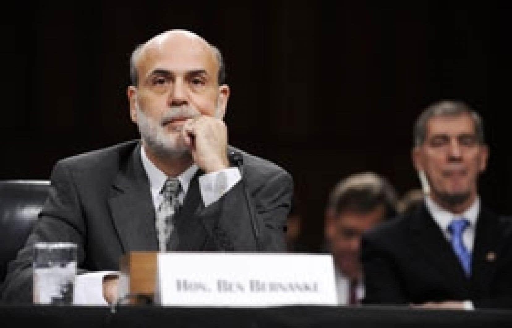 Selon le président de la Réserve fédérale, Ben Bernanke, «si les mesures prises par l'administration, le Congrès et la Réserve fédérale réussissent à faire revenir une certaine forme de stabilité financière — et dans ce seul cas, à mon