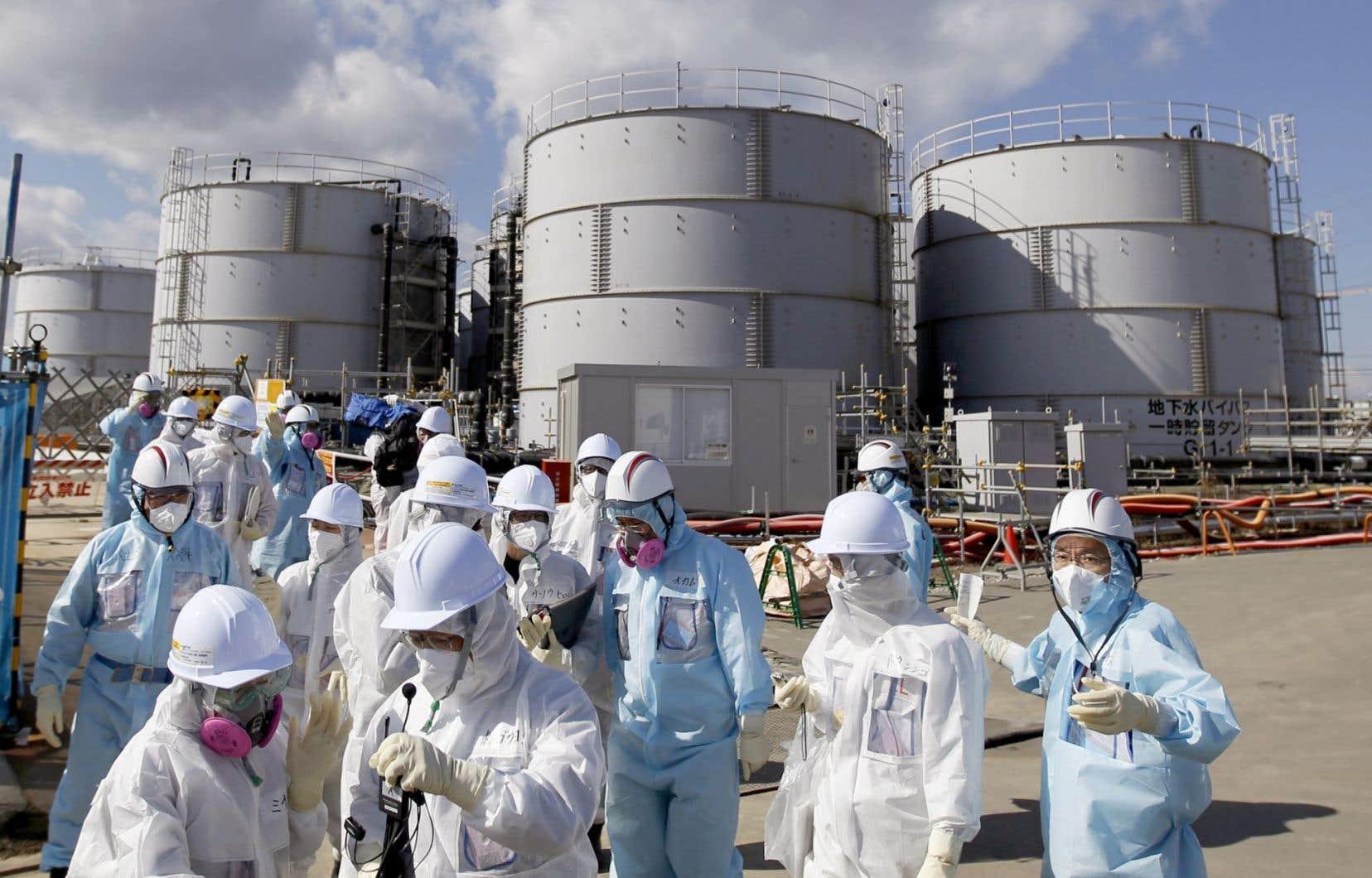 Les journalistes ont été invités à se rendre à la centrale Fukushima Daiichi cinq ans après la catastrophe.