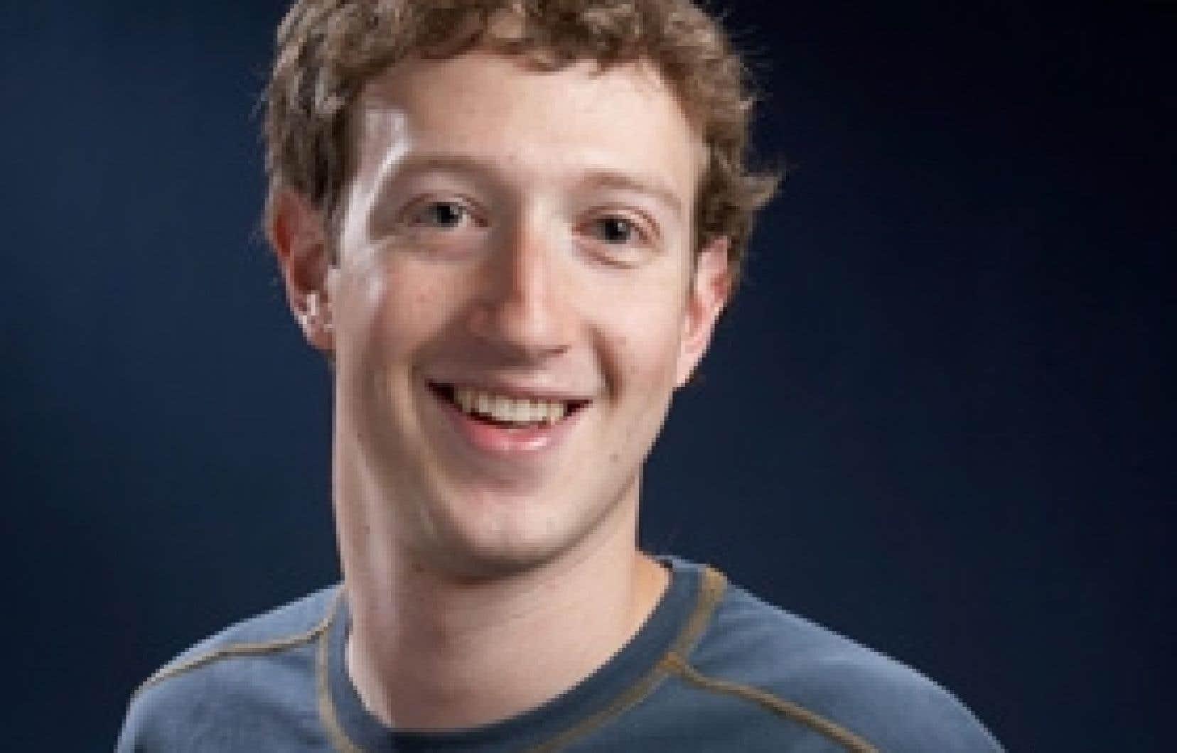 Mark Zuckerberg, président fondateur de Facebook