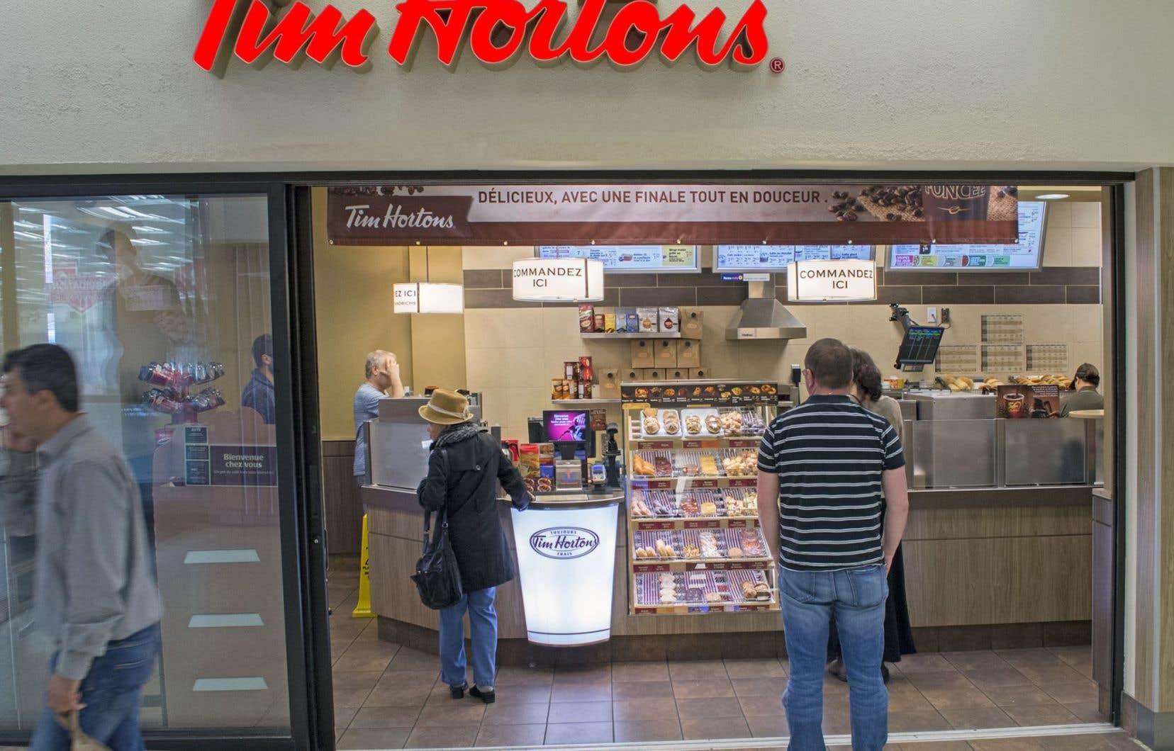 Tim Hortons a fermé l'an dernier 27 restaurants dans les États de New York et du Maine en raison de leur performance décevante.
