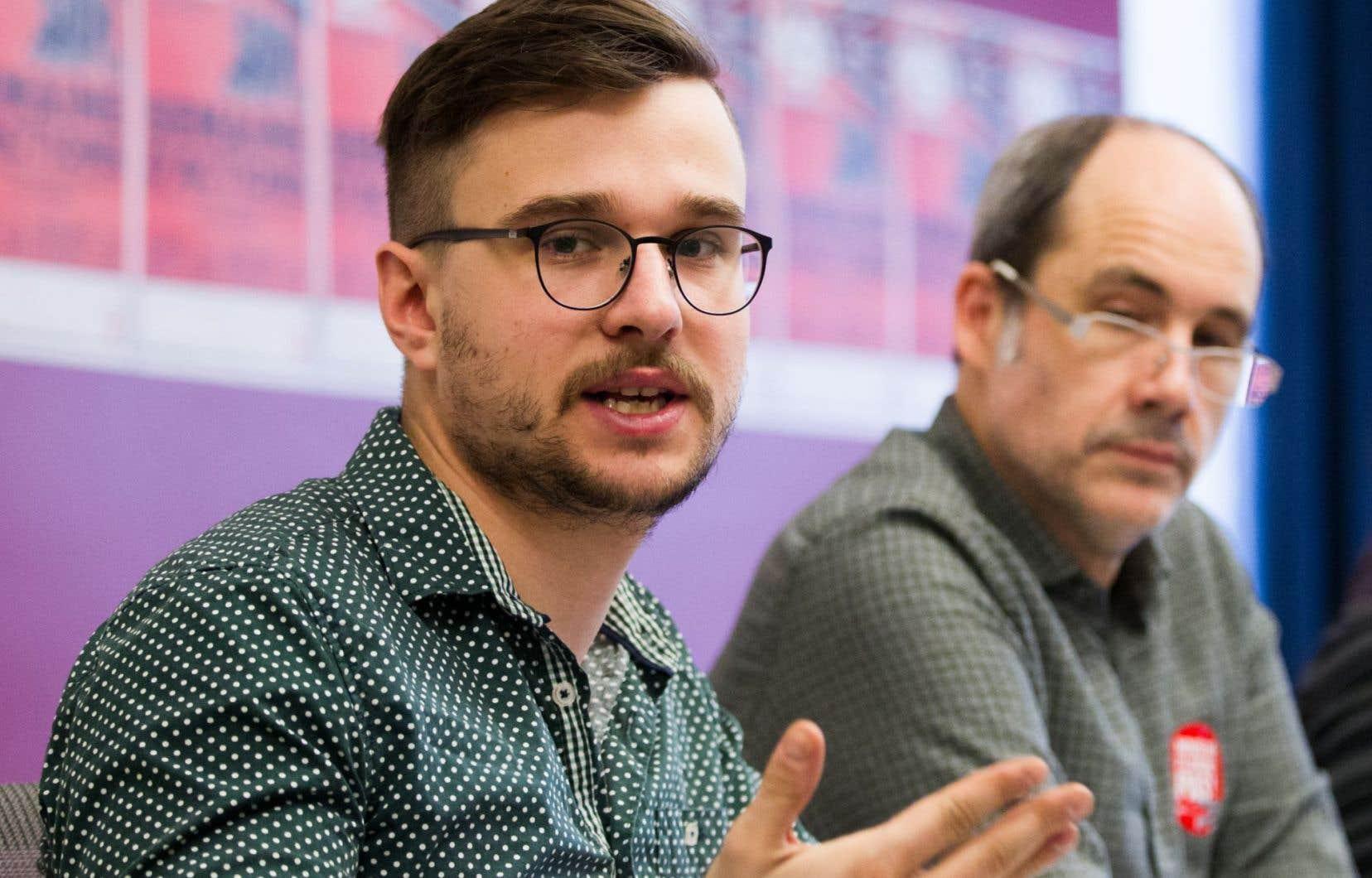Le porte-parole de la Coalition Main rouge, Joël Pedneault