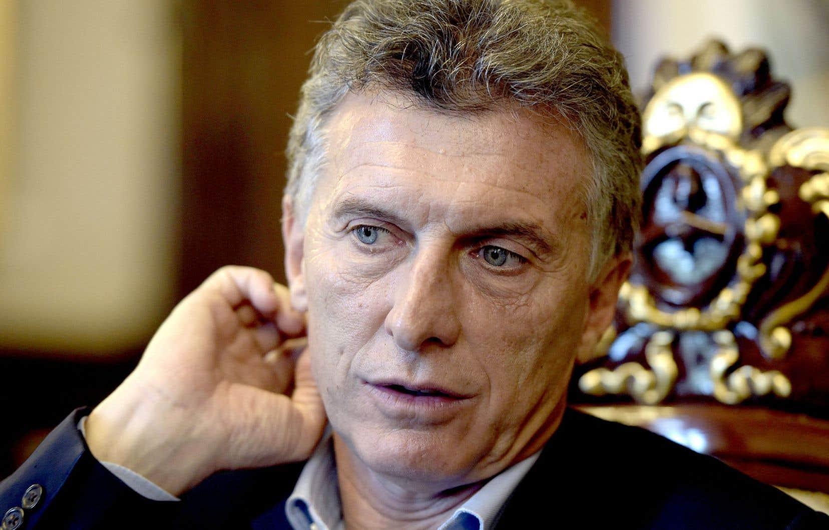 Mauricio Macri, président de l'Argentine