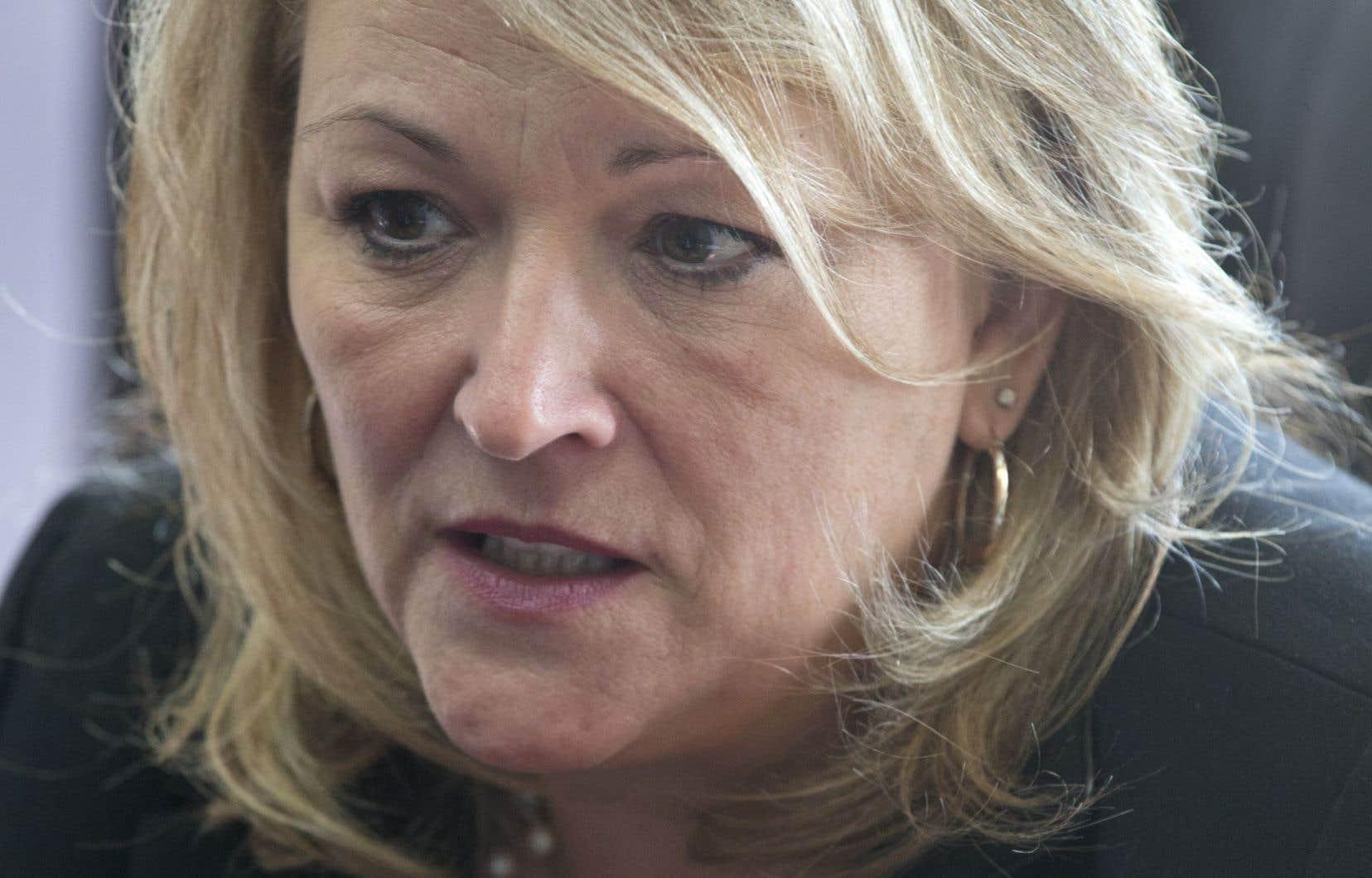 Lise Thériault est notamment la ministre responsable de la Condition féminine.