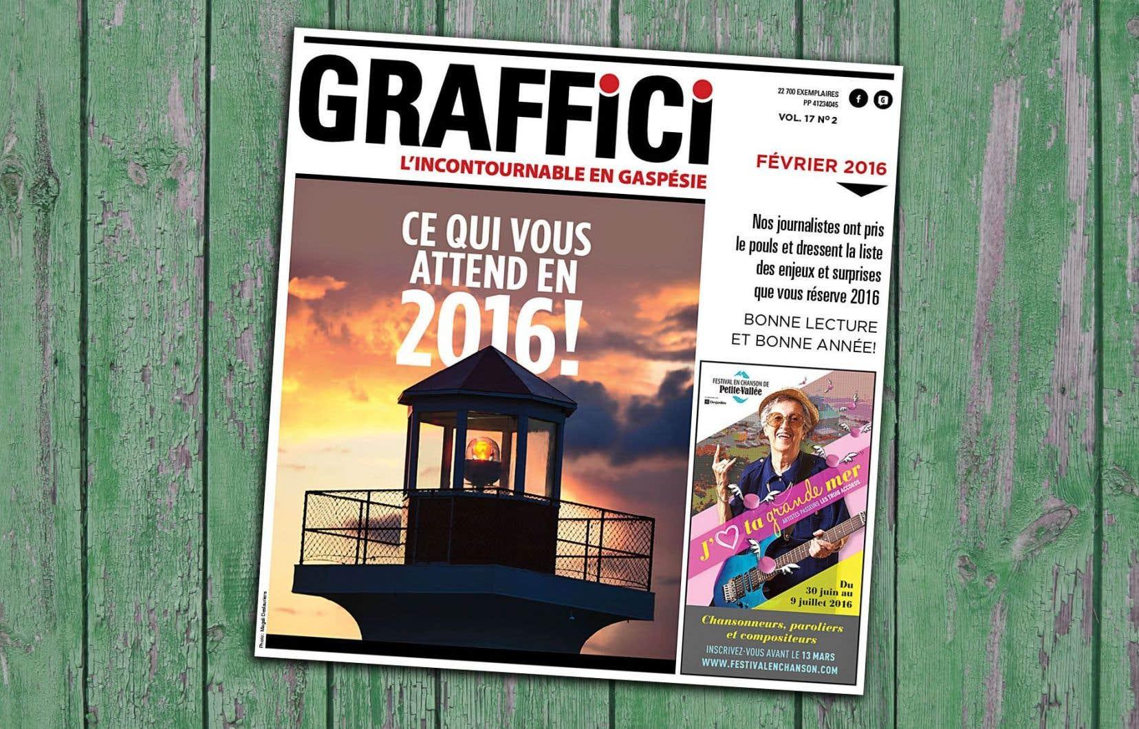 Le numéro de février du mensuel gaspésien «Graffici»