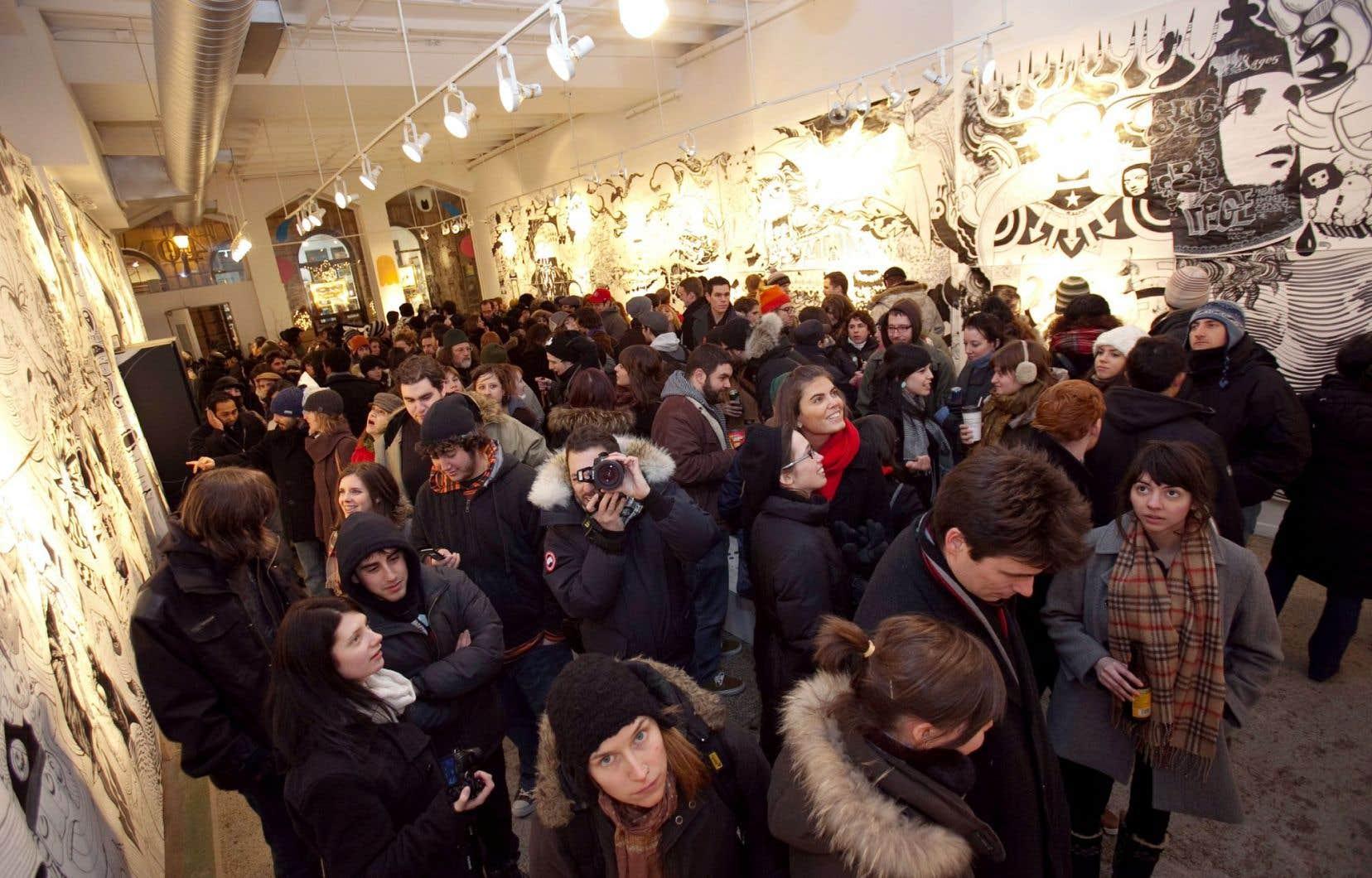 La «Galerie Pangée» était aussi au rendez-vous de la Nuit blanche en 2015.