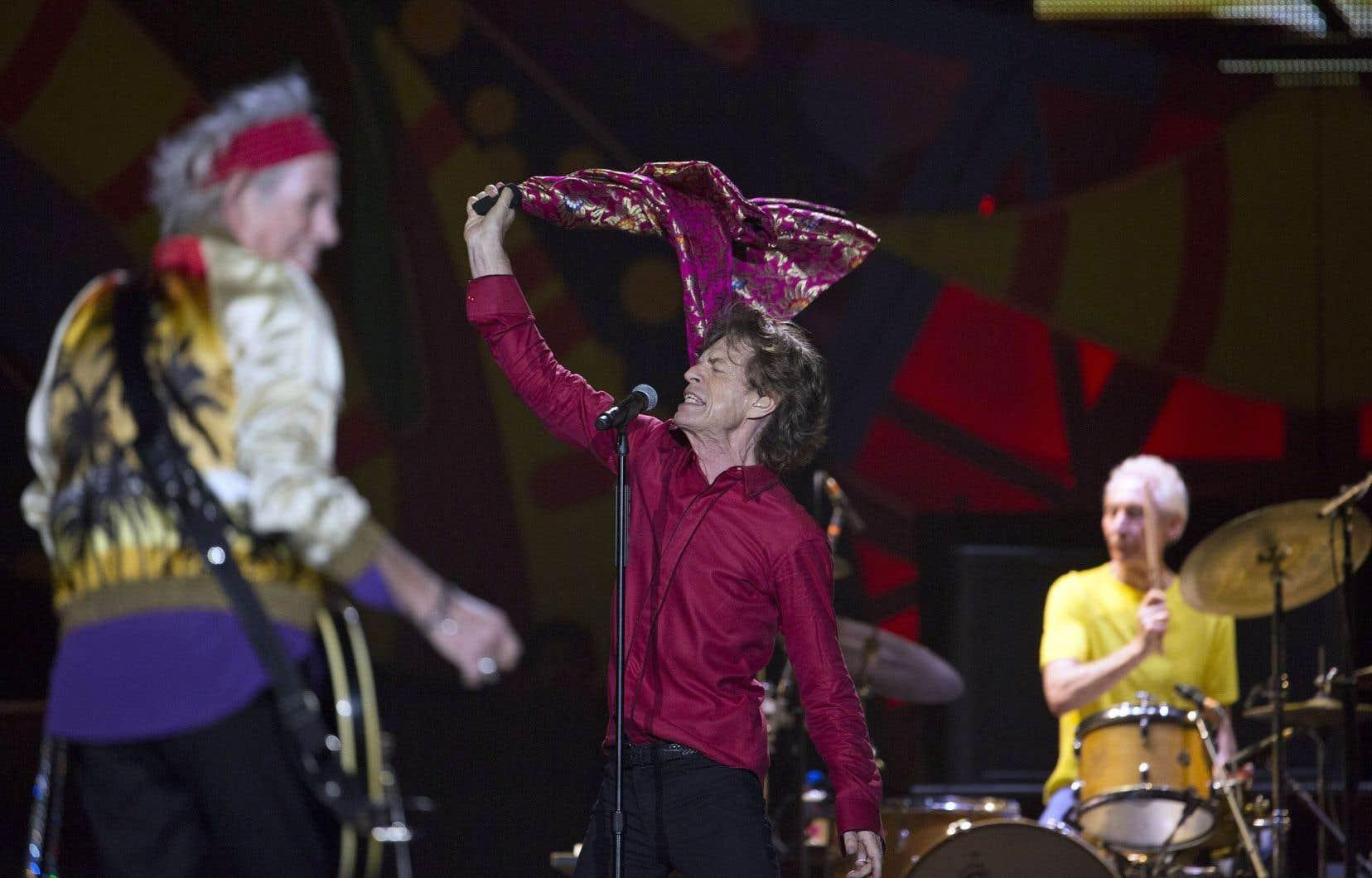 Keith Richards, Mick Jagger et Charlie Watts à Rio de Janeiro, le 20février dernier au cours de la tournée des Rolling Stones en Amérique latine