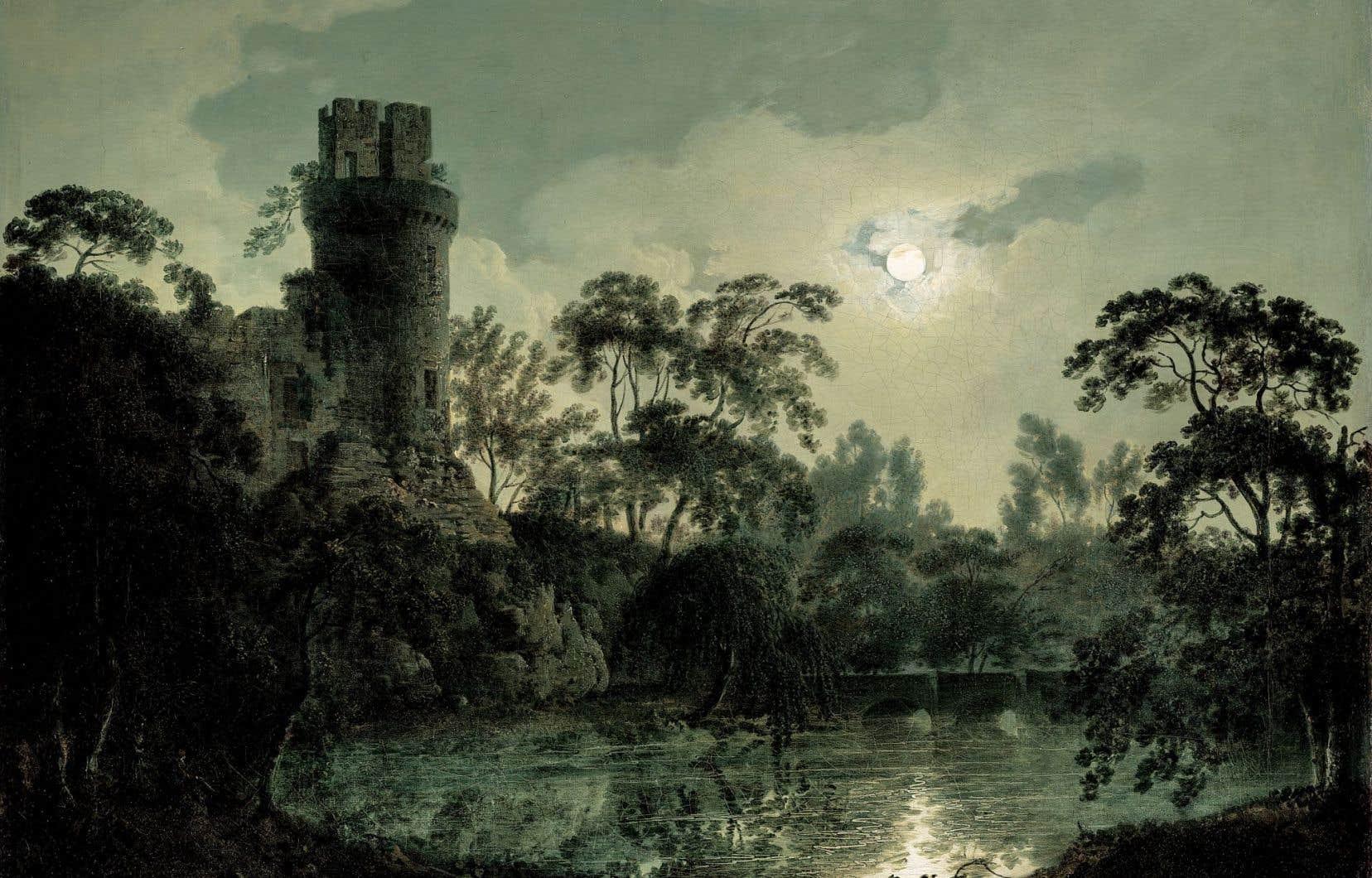 Le couple Hornstein a fait don de 70 œuvres, dont «Clair de lune avec un lac et une tour crénelée» de Joseph Wright of Derby.