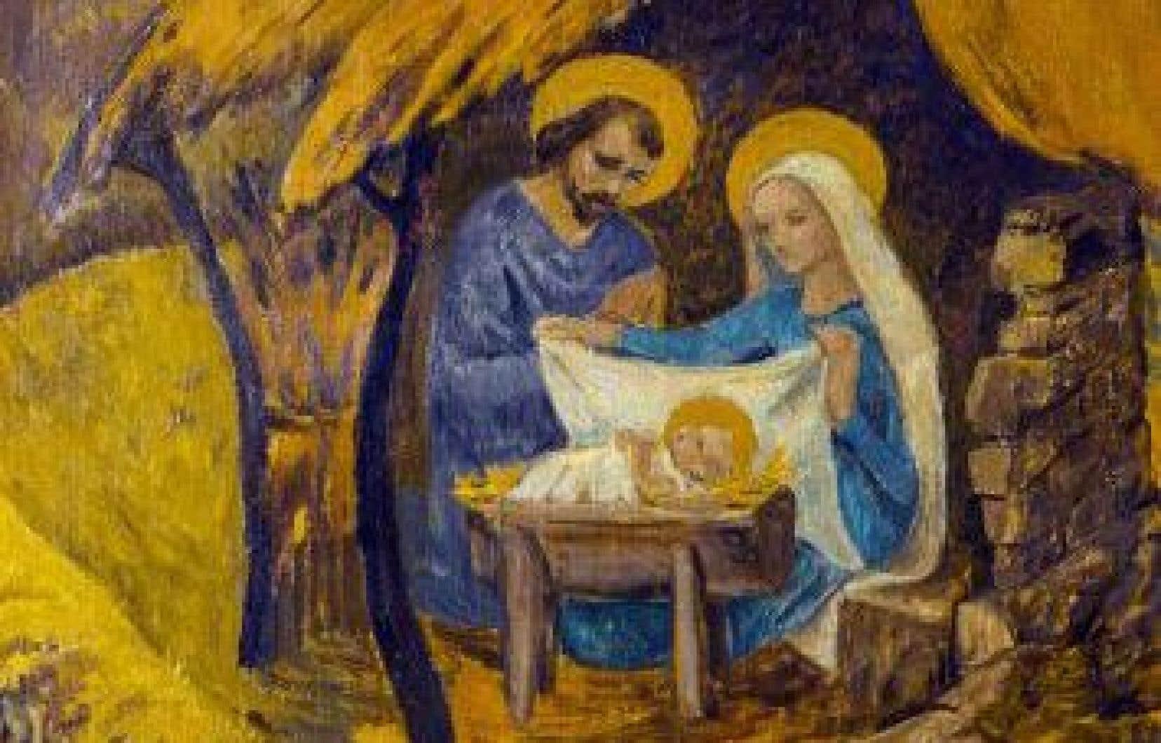 «La crèche», partie centrale du triptyque de la «Nativité» de Paul Sérusier