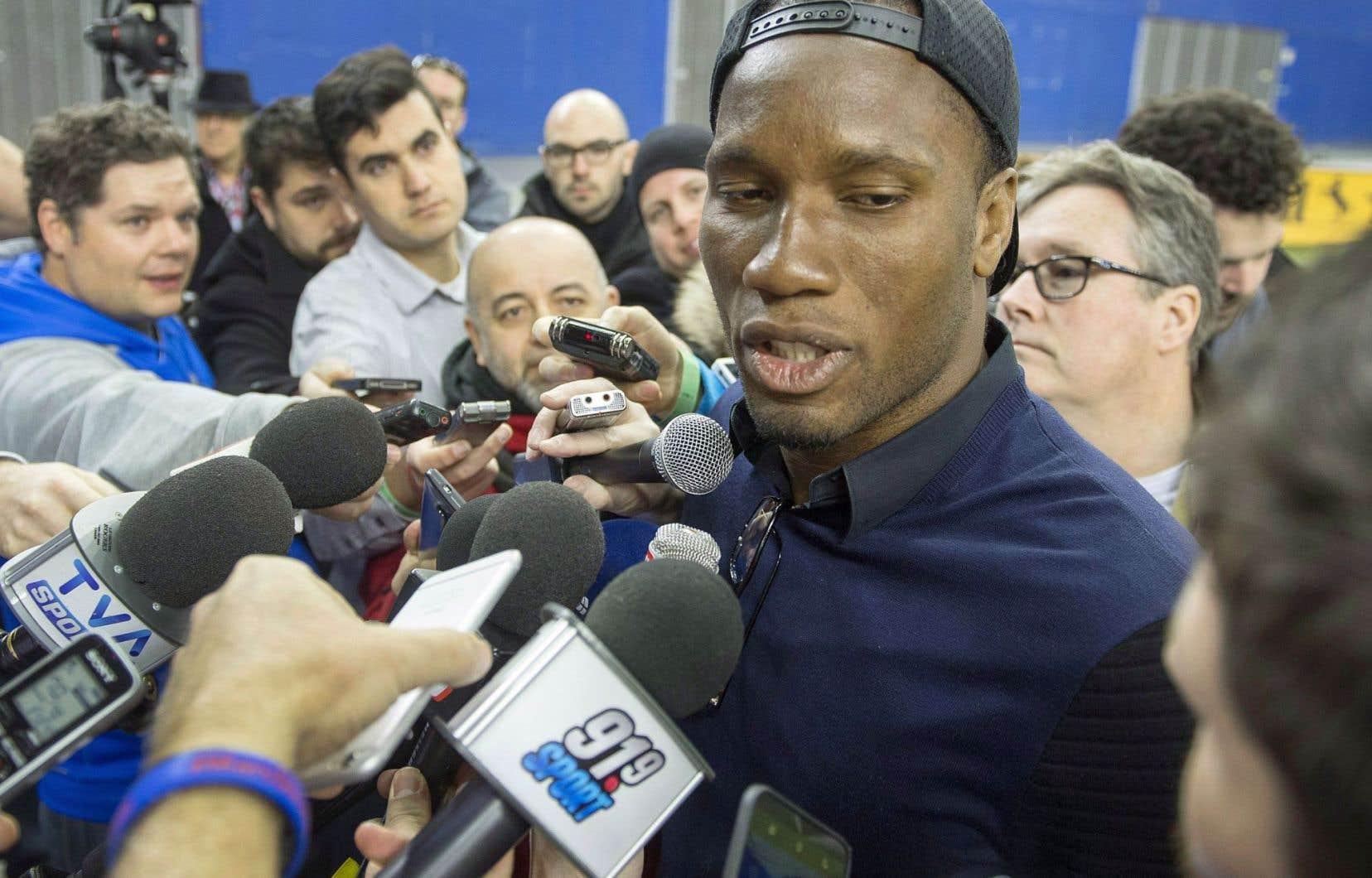 Didier Drogba a rencontré les représentants de la presse, jeudi, au retour de l'équipe dans la métropole.