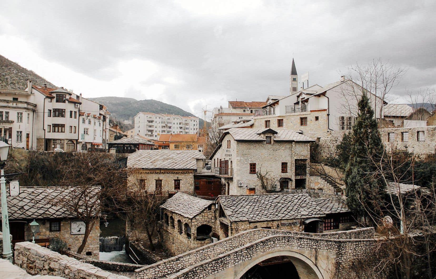La ville de Mostar en Bosnie-Herzégovine