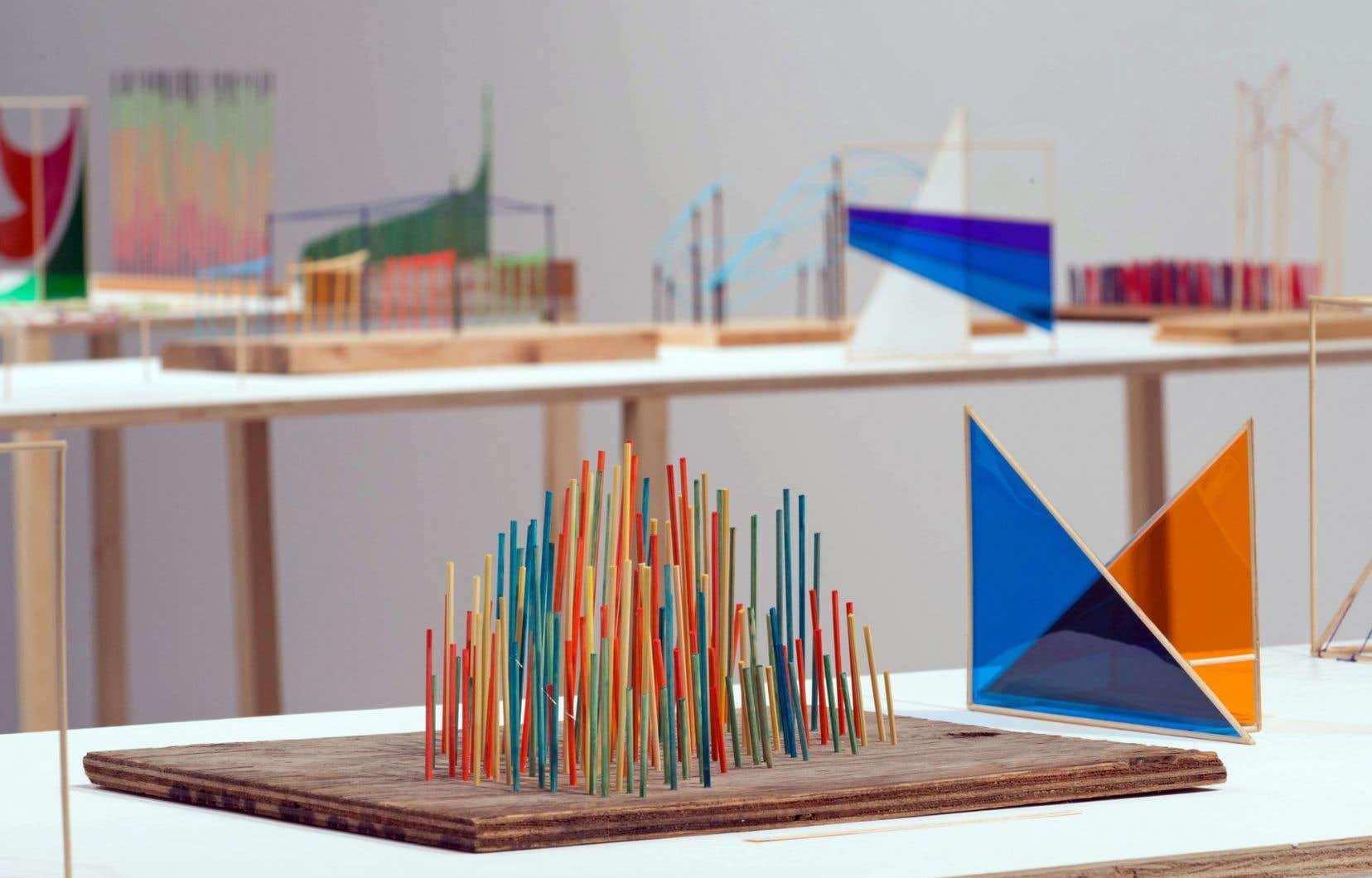 Détail de l'installation «Each Number Equals One Inhalation and One Exhalation» de Richard Ibghy et Marilou Lemmens