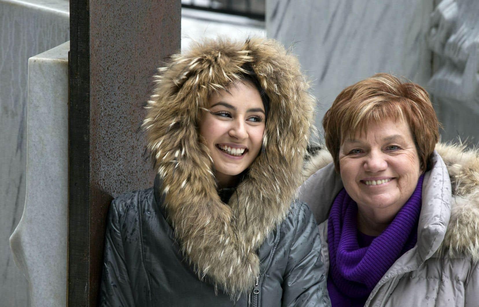 Maïtée Labrecque-Saganash et Claudette Carbonneau, deux générations de femmes qui parlent le même langage.