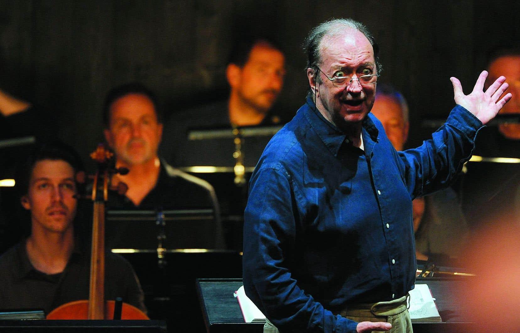 Nikolaus Harnoncourt en juillet2012 lors d'une répétition à Salzbourg, en Autriche