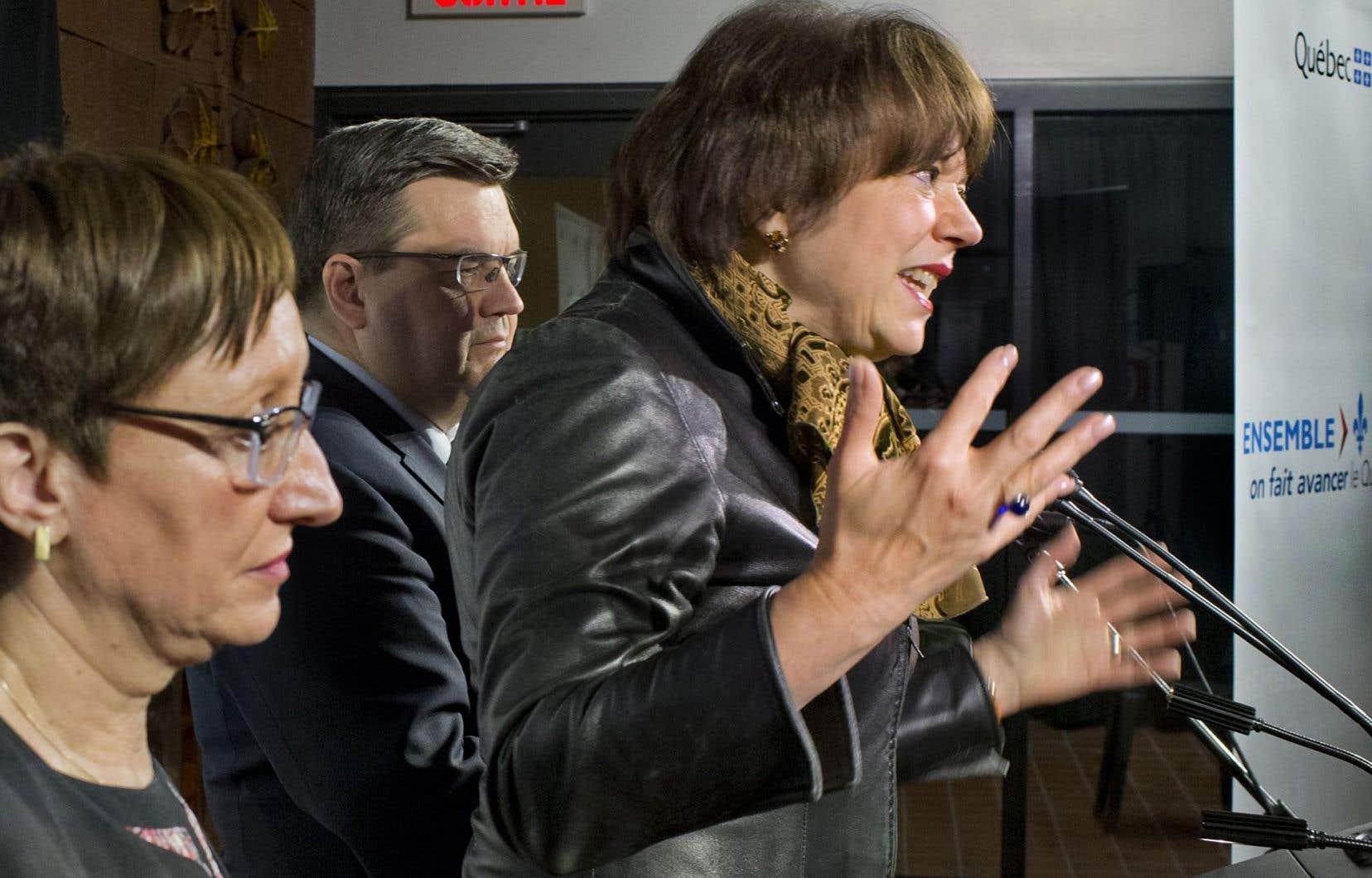 La ministre de l'Enseignement supérieur, Hélène David, a annoncé l'octroi de l'aide financière en présence de la directrice générale du Collège de Maisonneuve, Malika Habel, et du maire de Montréal, Denis Coderre. Elle promet que l'argent ne servira pas à du «travail de bureau».