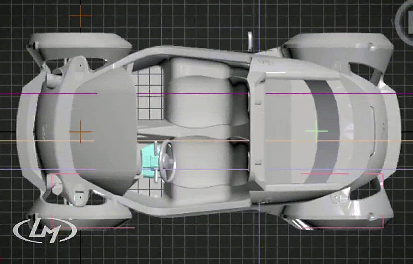 Local Motors façonne une voiture, la Strati, en une seule pièce (châssis et carrosserie) avant d'ajouter à la main 48 éléments (moteur, volant, pneus).